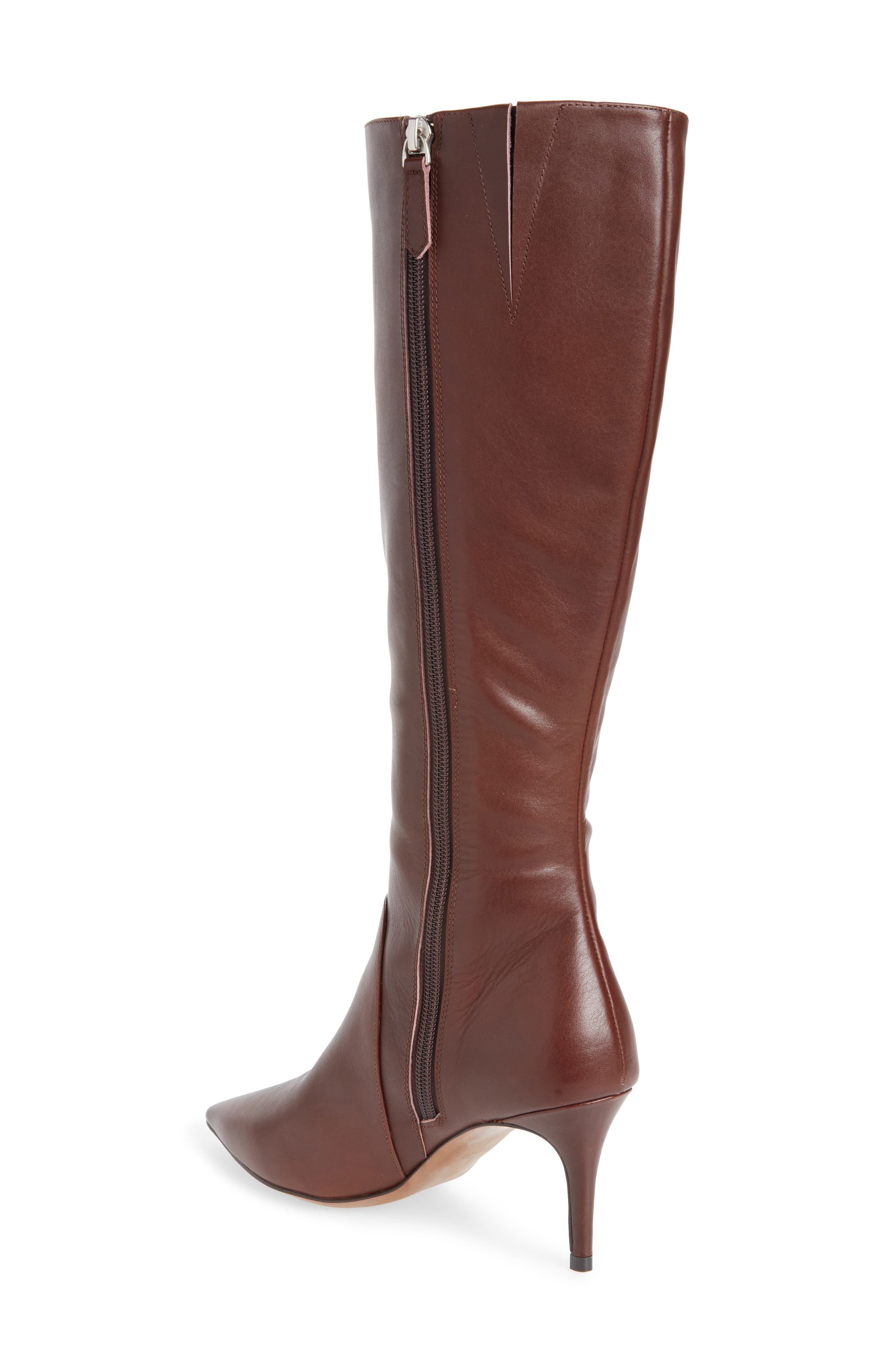 LINEA PAOLO, Perfect Boot, Alternate thumbnail 2, color, CHOCOLATE LEATHER