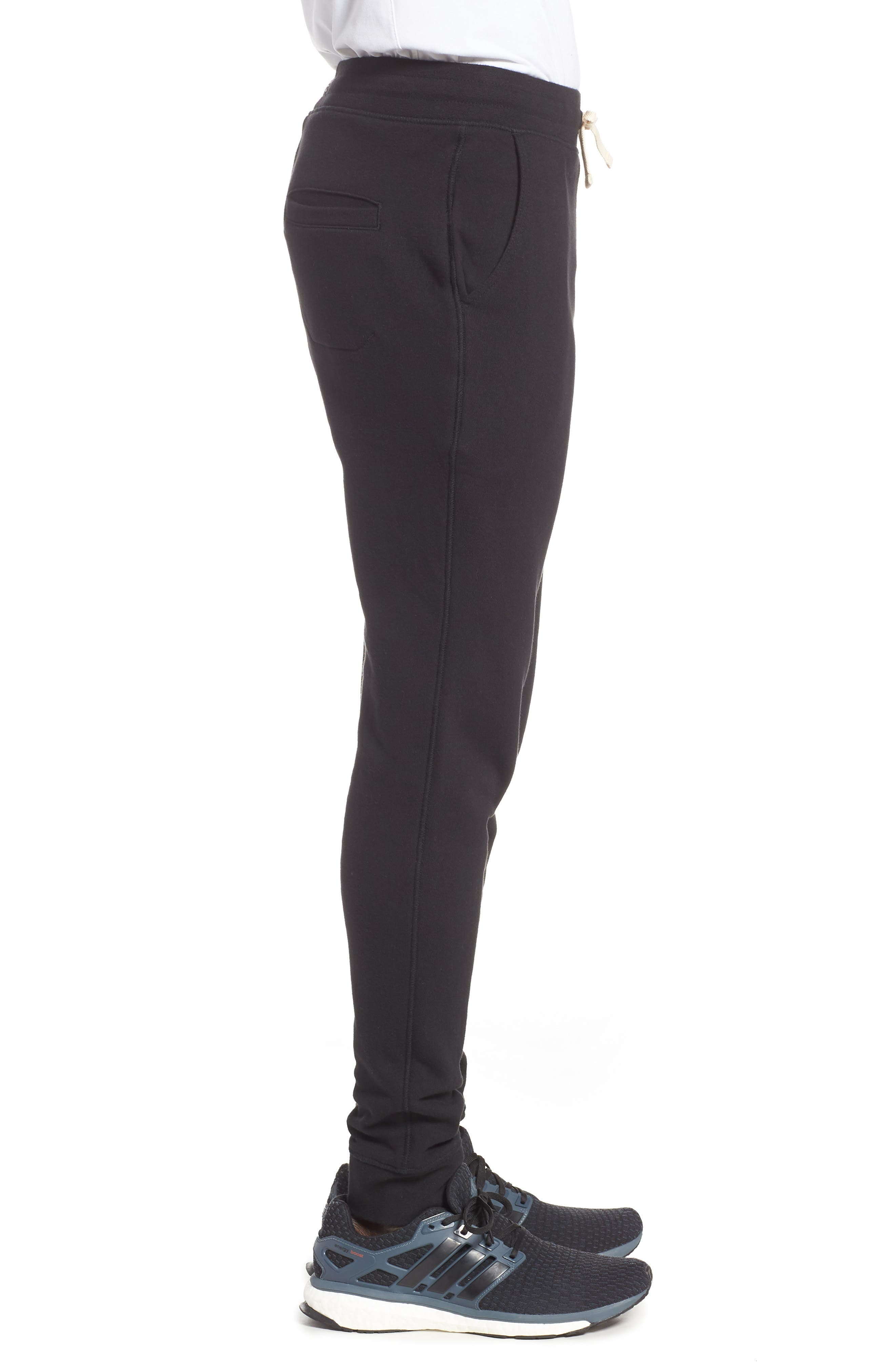 RICHER POORER, Cotton Lounge Pants, Alternate thumbnail 3, color, BLACK
