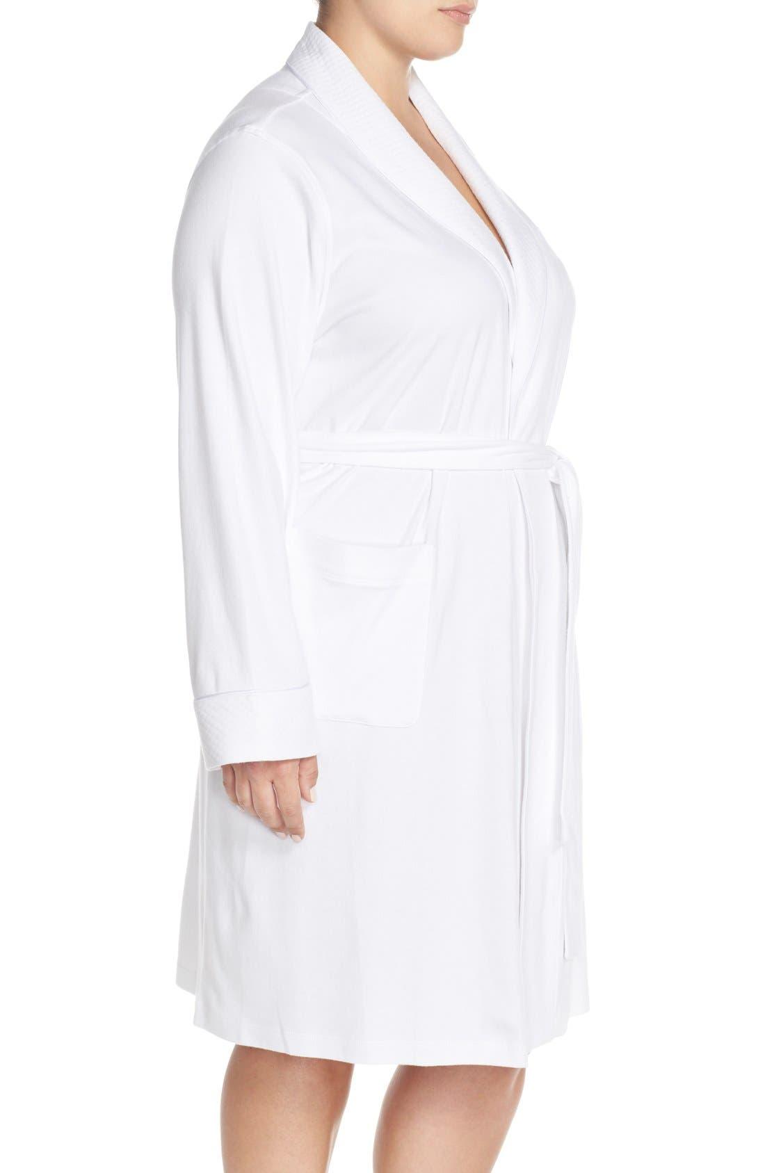 LAUREN RALPH LAUREN, Shawl Collar Robe, Alternate thumbnail 2, color, WHITE
