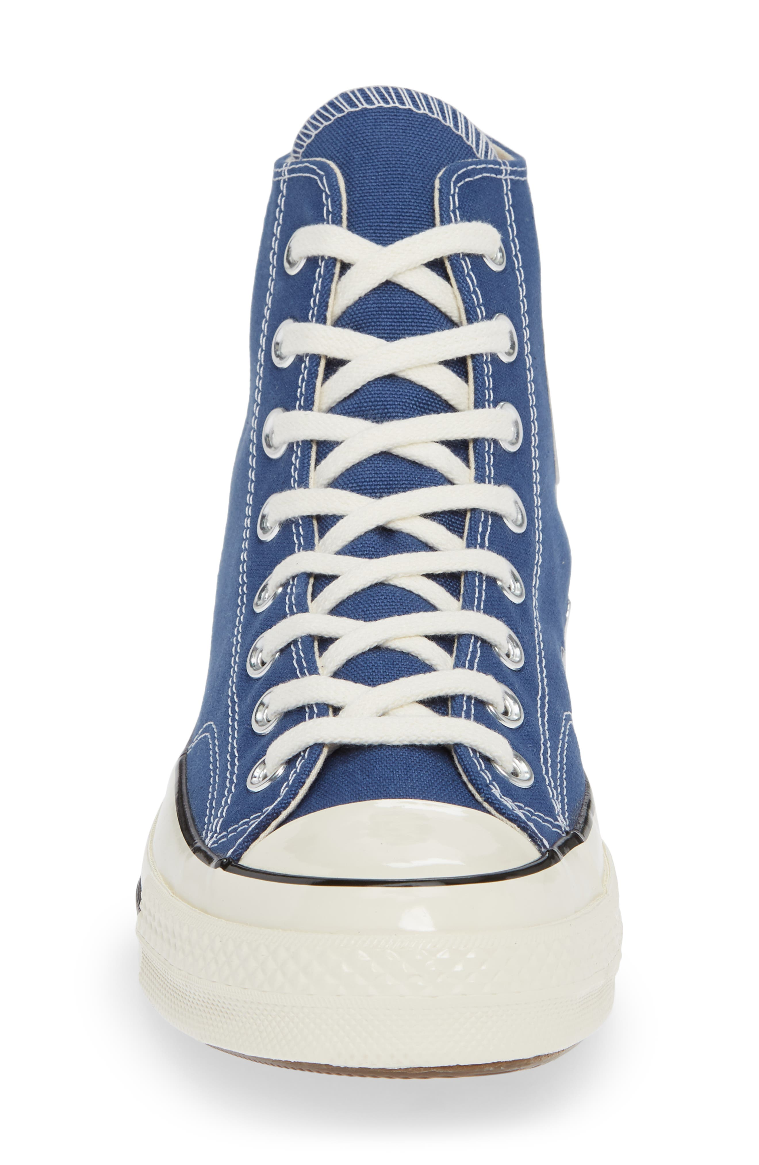 CONVERSE, Chuck Taylor<sup>®</sup> All Star<sup>®</sup> 70 Vintage High Top Sneaker, Alternate thumbnail 4, color, TRUE NAVY/ BLACK