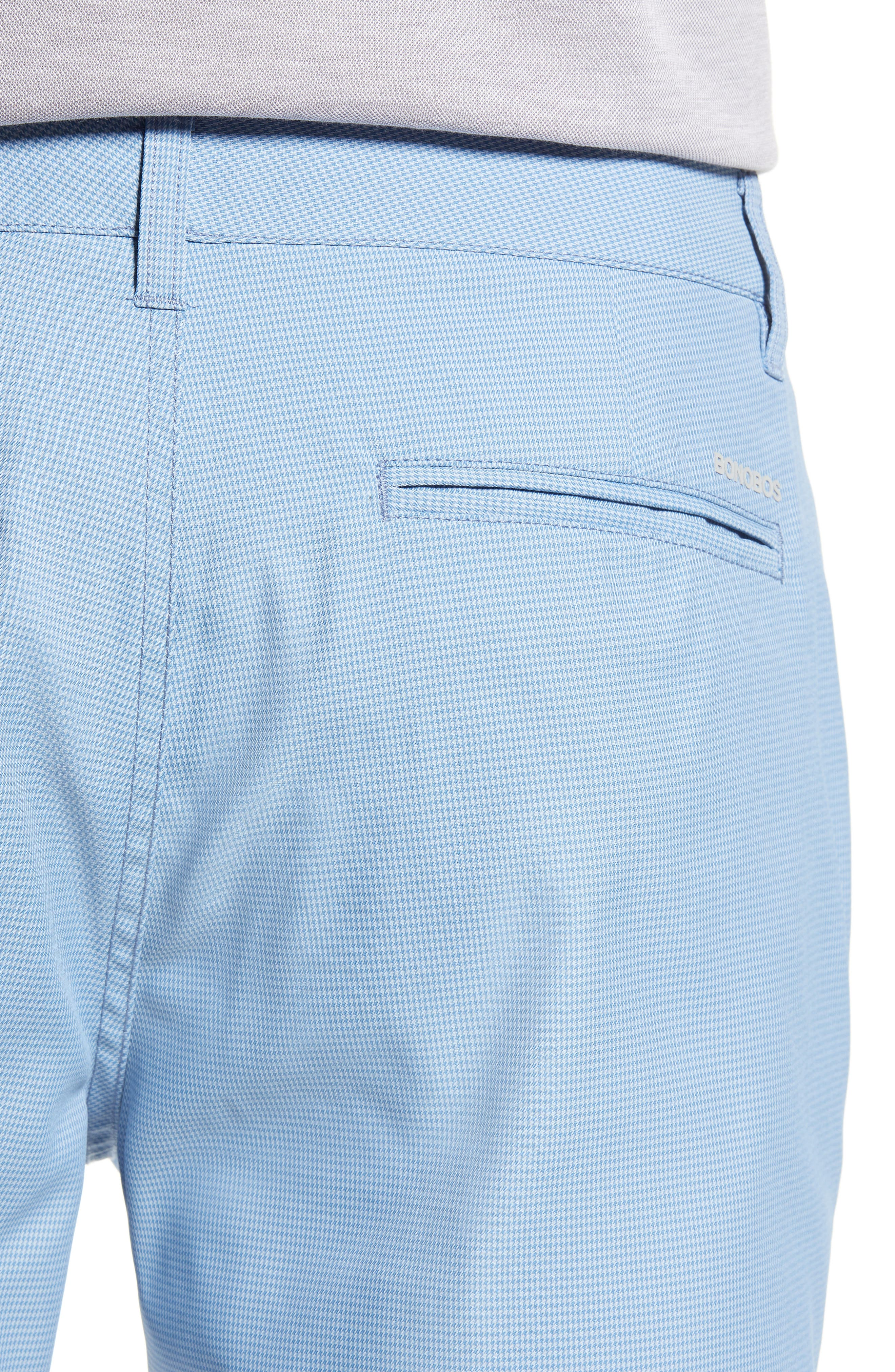 BONOBOS, The Highland Micro Houndstooth Golf Shorts, Alternate thumbnail 4, color, BLUE MINICHECK C3