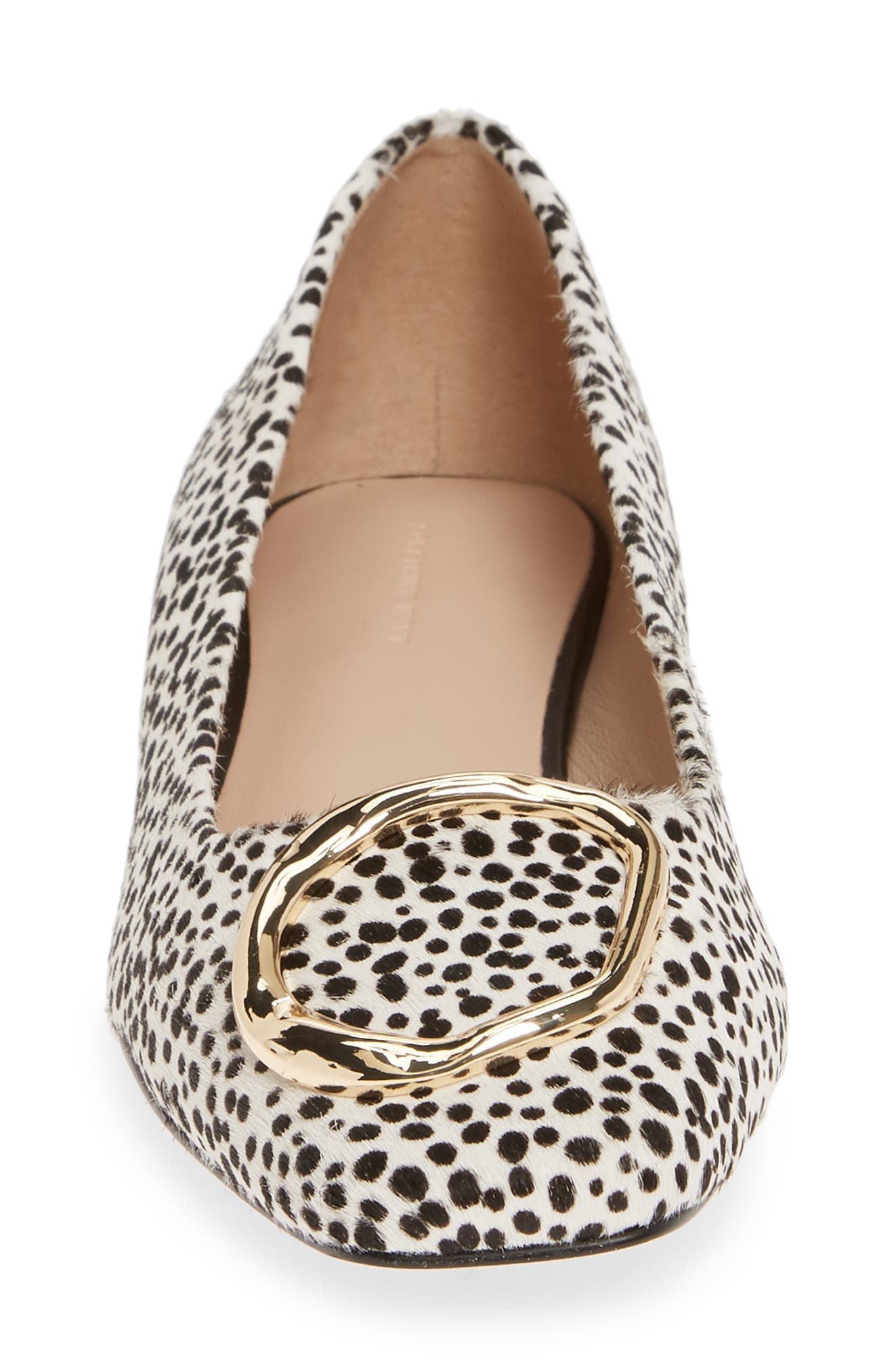 SOMETHING NAVY, Lily Flat, Alternate thumbnail 5, color, BLACK WHITE CHEETAH PRINT