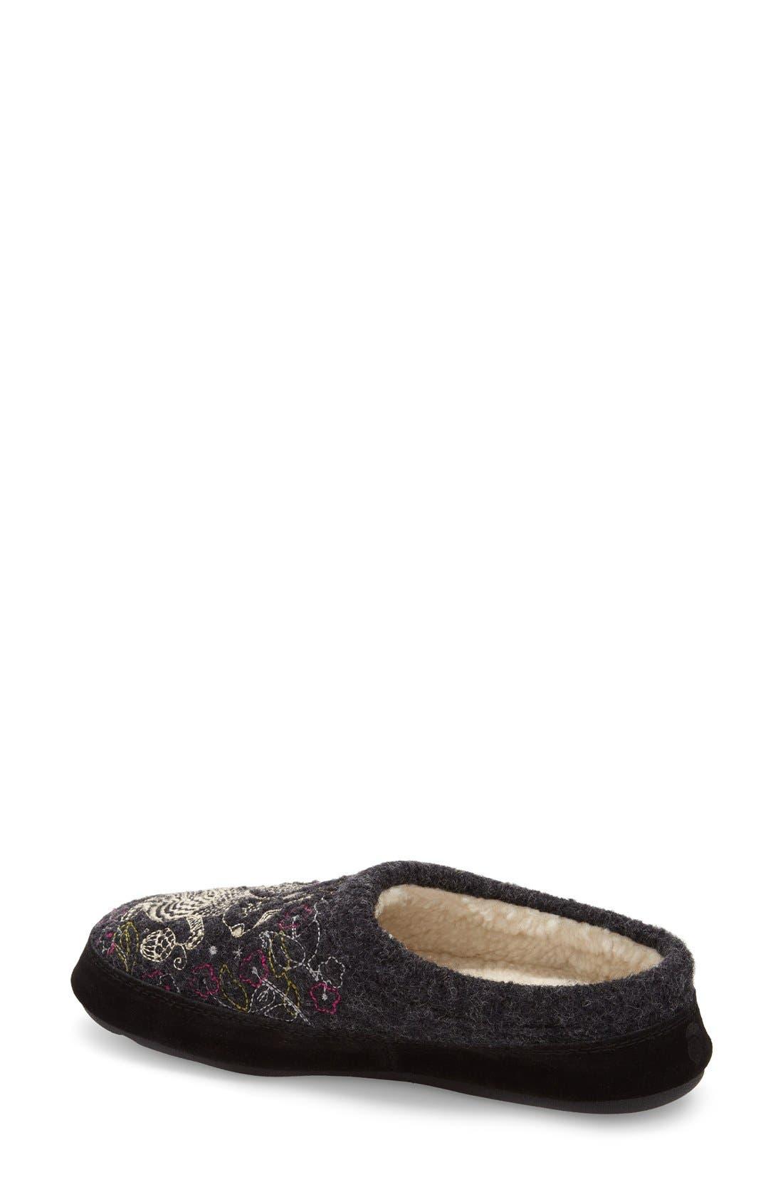ACORN, 'Forest' Wool Mule Slipper, Alternate thumbnail 2, color, GREY SQUIRREL