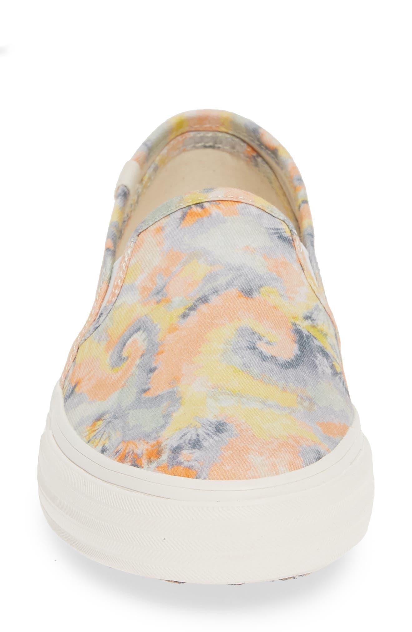 KEDS<SUP>®</SUP>, Double Decker Tie Dye Sneaker, Alternate thumbnail 4, color, PINK MULTI