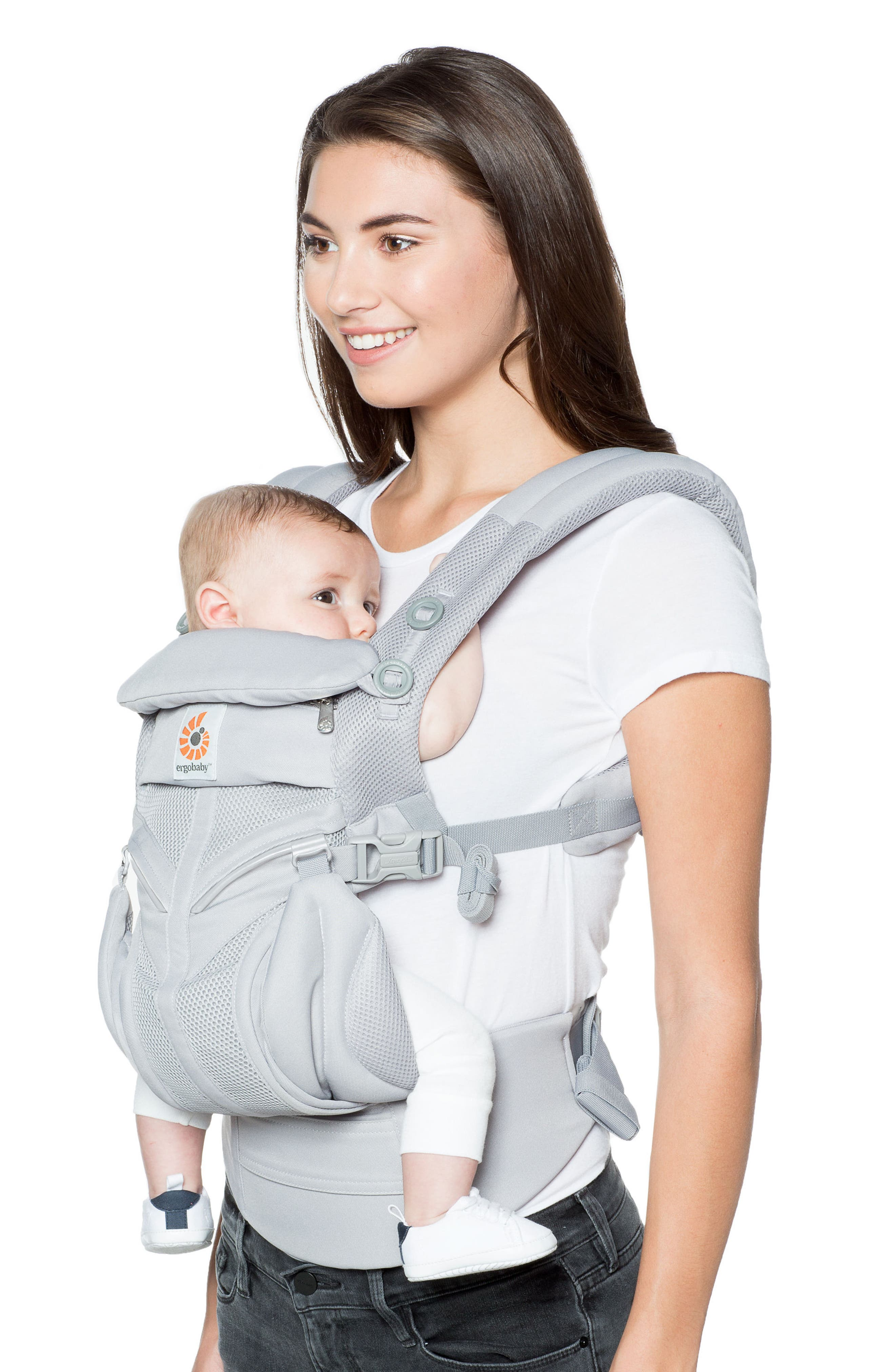 ERGOBABY, Omni 360 - Cool Air Baby Carrier, Alternate thumbnail 2, color, PEARL GREY