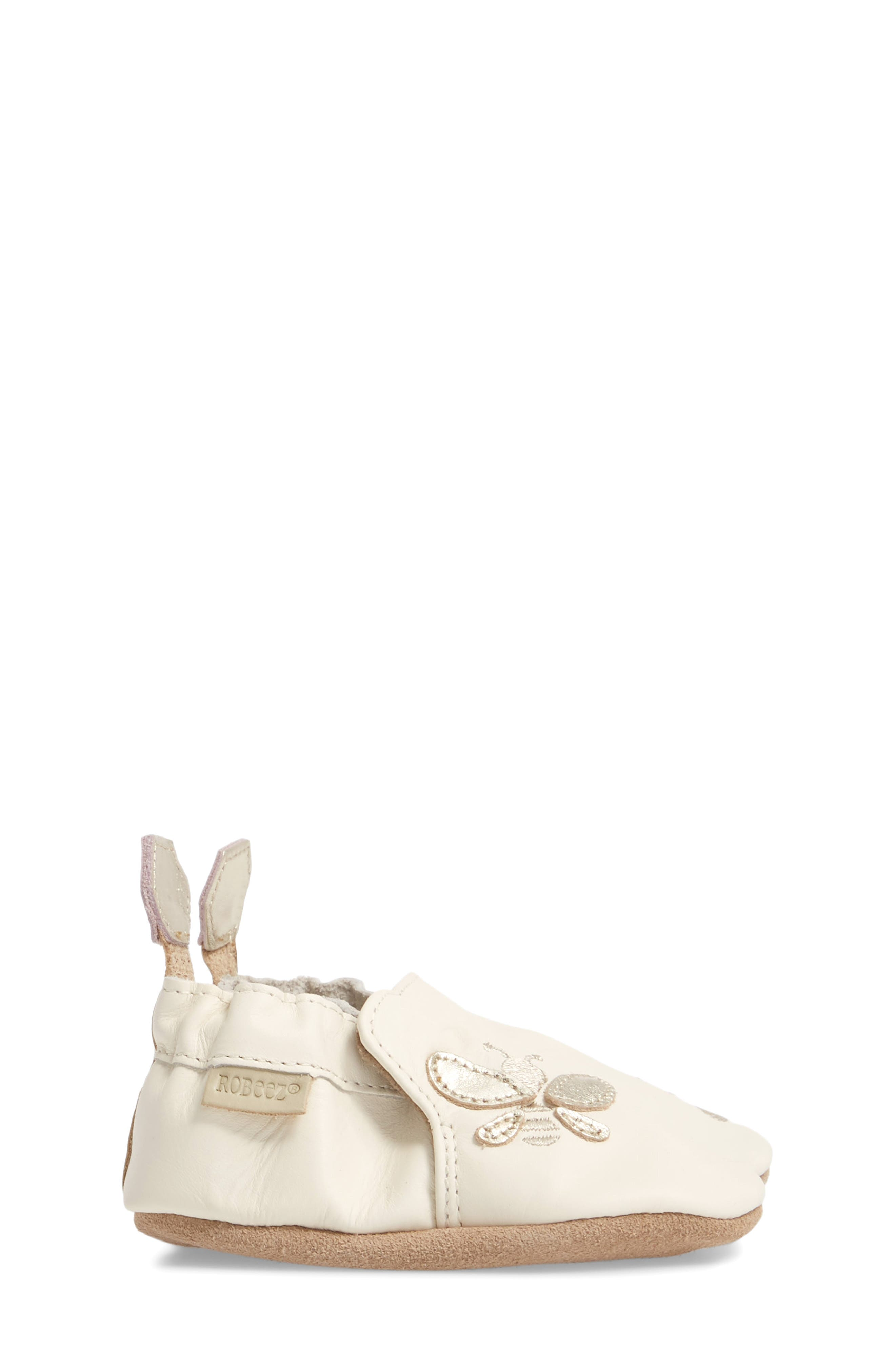 ROBEEZ<SUP>®</SUP>, Bee Moccasin Sneaker, Alternate thumbnail 3, color, CREAM