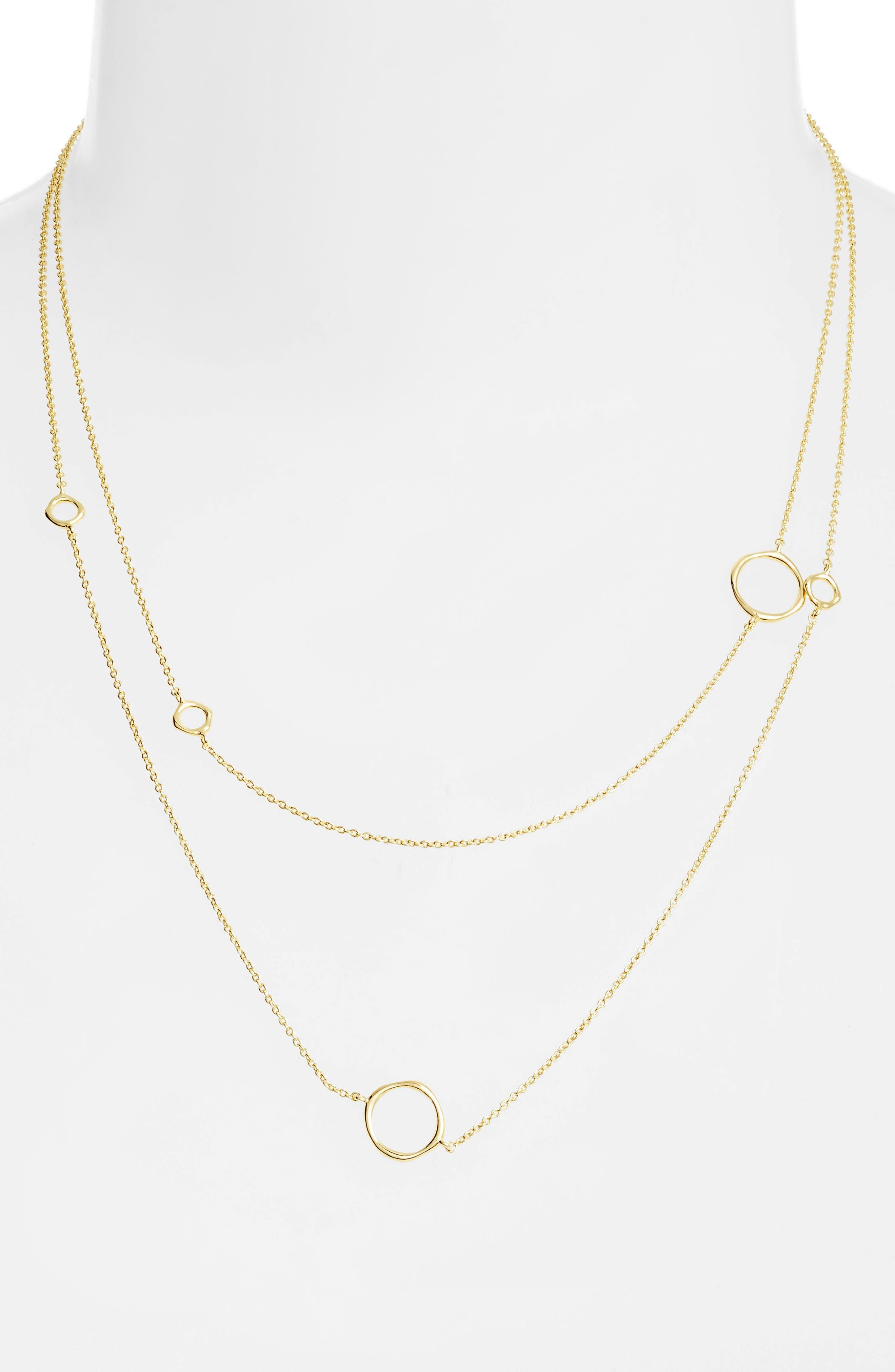 GORJANA, Quinn Wrap Necklace, Alternate thumbnail 2, color, GOLD