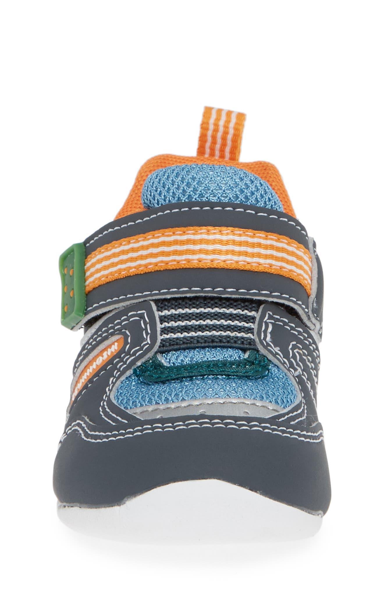 TSUKIHOSHI, Neko Washable Sneaker, Alternate thumbnail 4, color, CHARCOAL/ SEA
