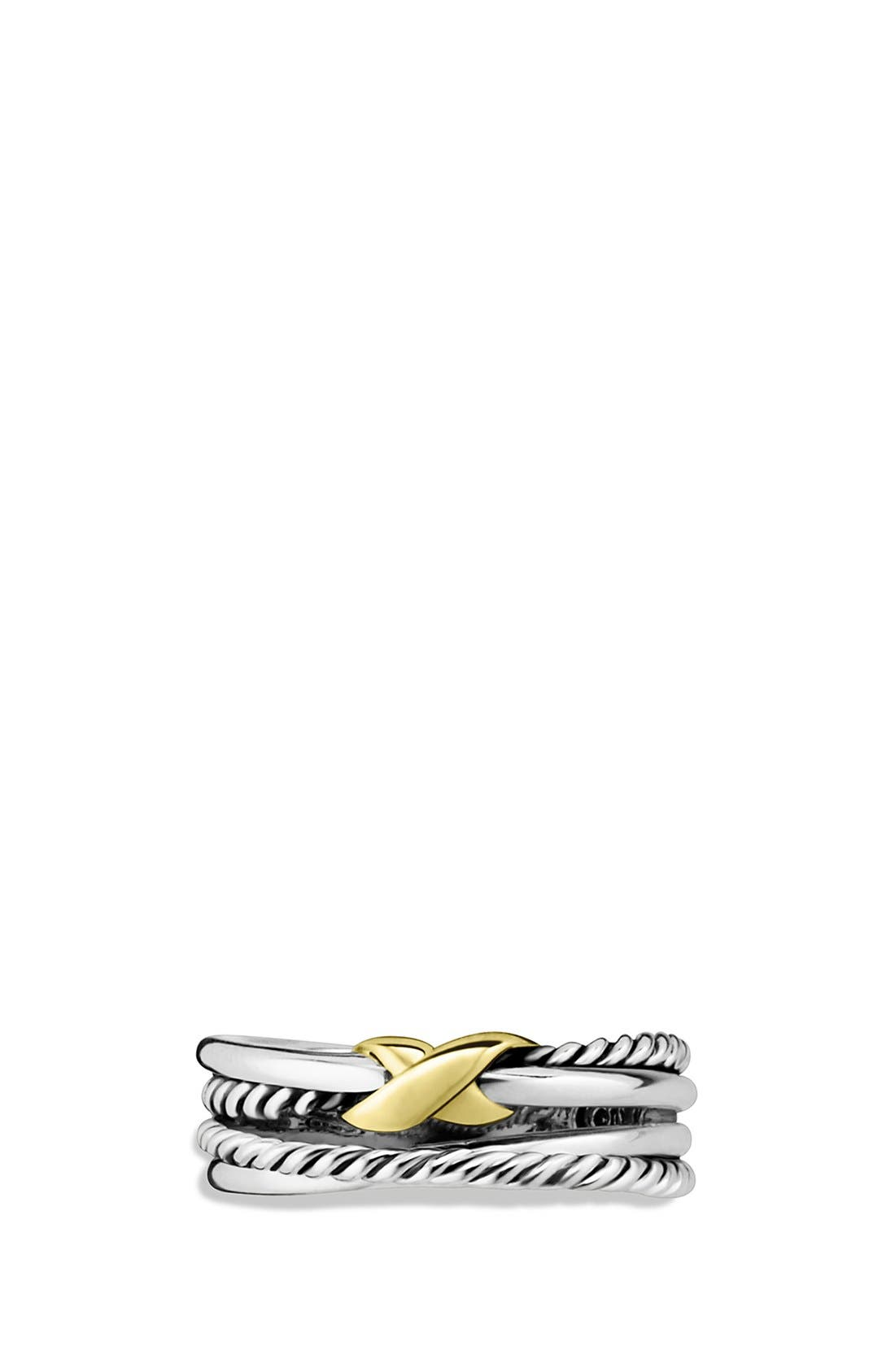 DAVID YURMAN, 'X Crossover' Ring, Main thumbnail 1, color, TWO TONE