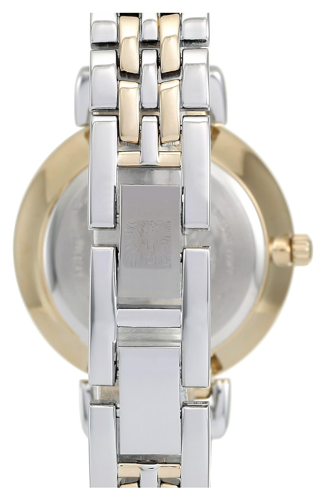 ANNE KLEIN, Round Bracelet Watch, 30mm, Alternate thumbnail 3, color, 040
