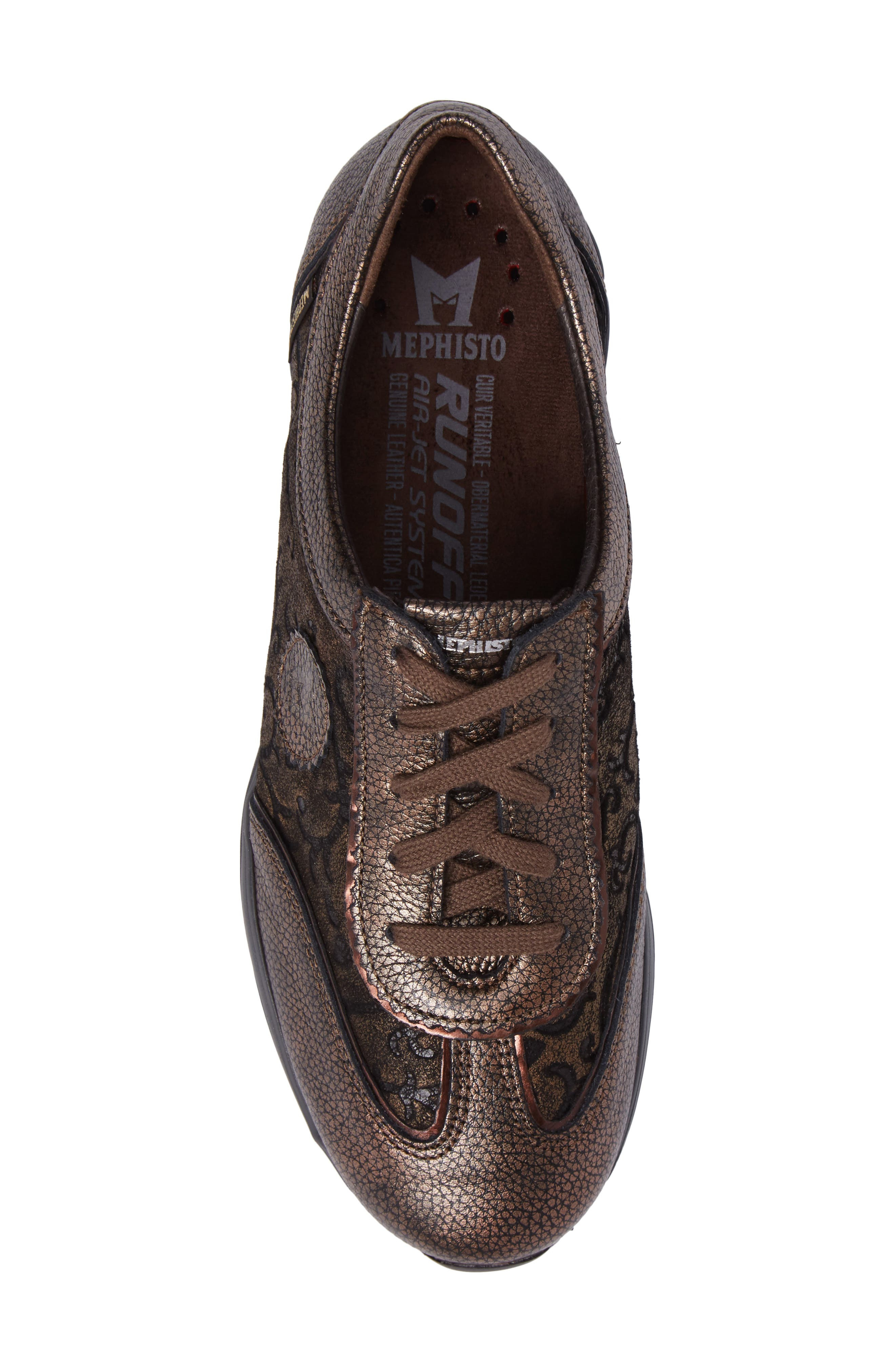 MEPHISTO, 'Yael' Soft-Air Sneaker, Alternate thumbnail 5, color, COPPER LEATHER