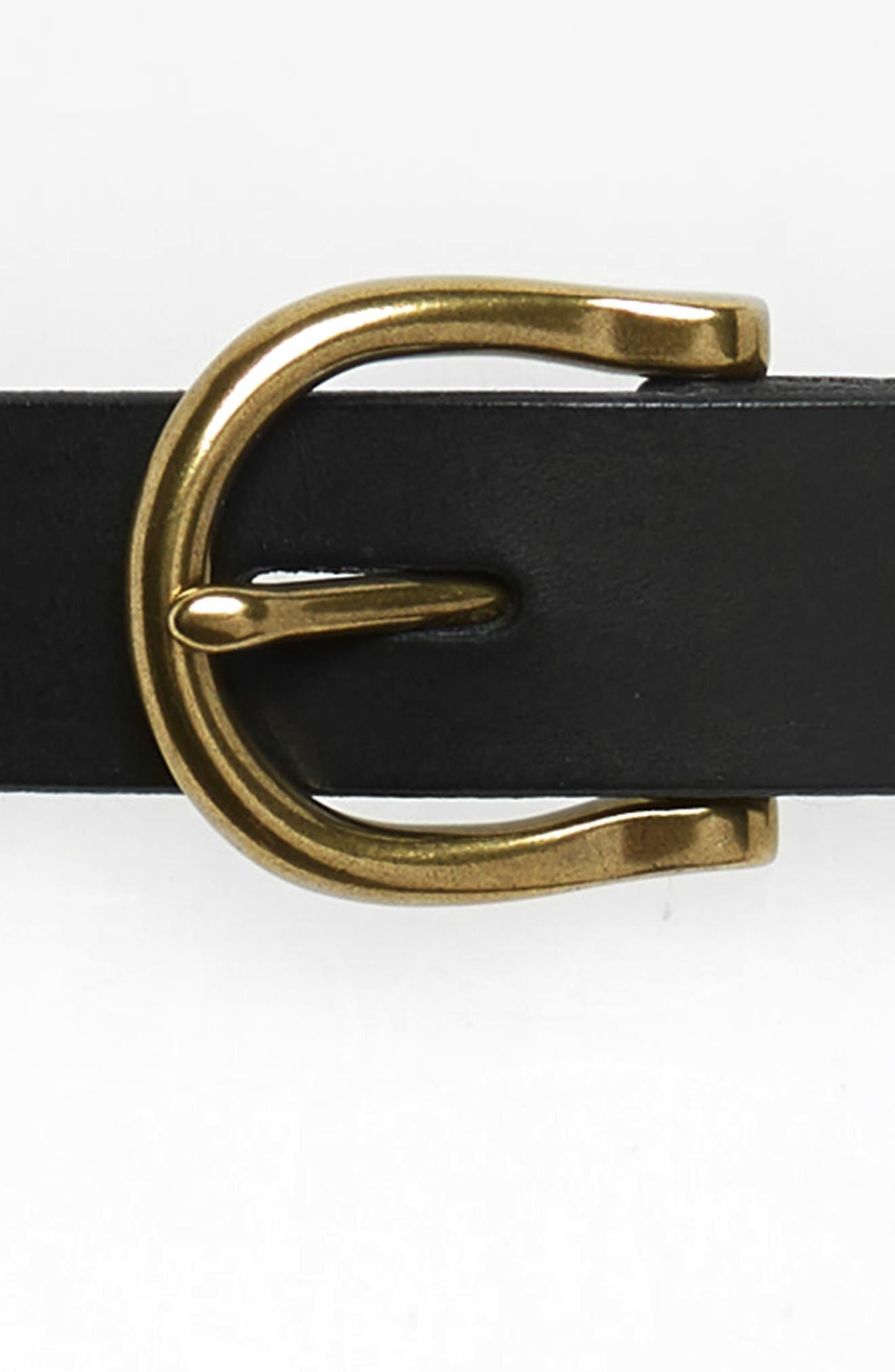 MADEWELL, Backcountry Belt, Alternate thumbnail 3, color, TRUE BLACK