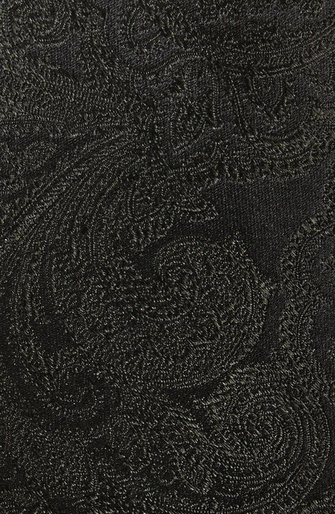 THE TIE BAR, Silk Paisley Tie, Alternate thumbnail 2, color, 001