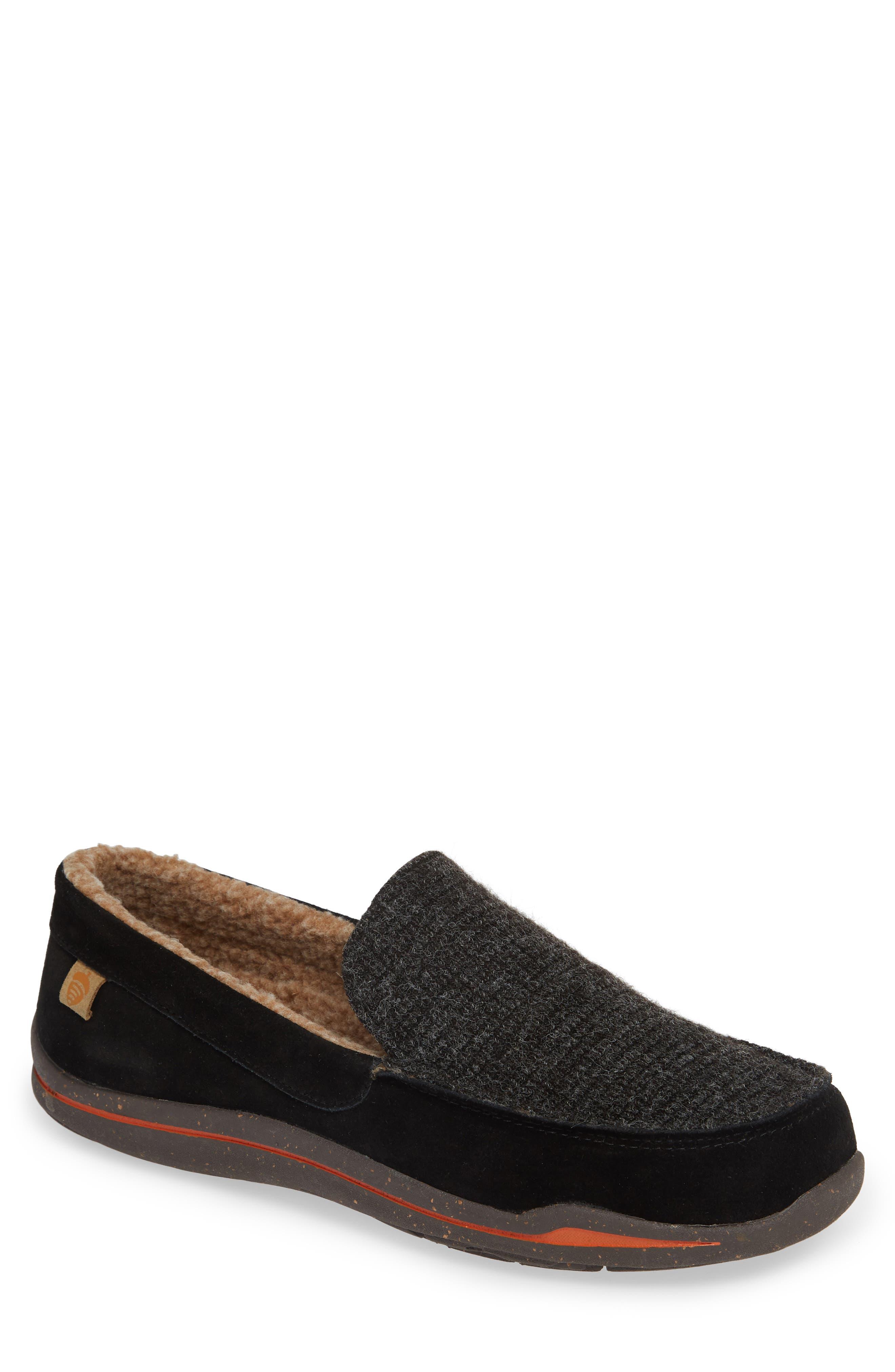 ACORN Ellsworth Moc Toe Slipper, Main, color, BLACK
