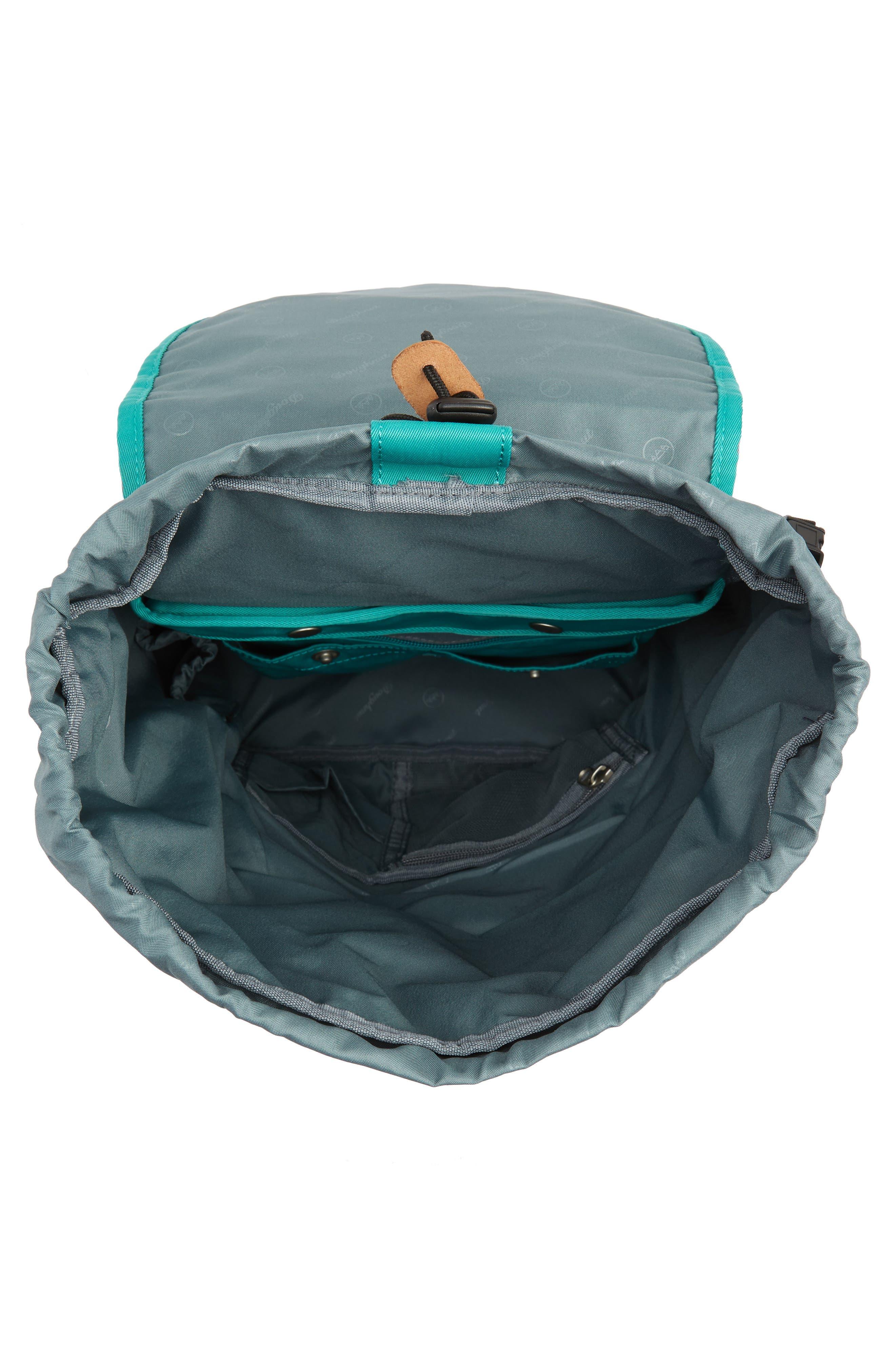 DOUGHNUT, Montana Water Repellent Backpack, Alternate thumbnail 4, color, MINT