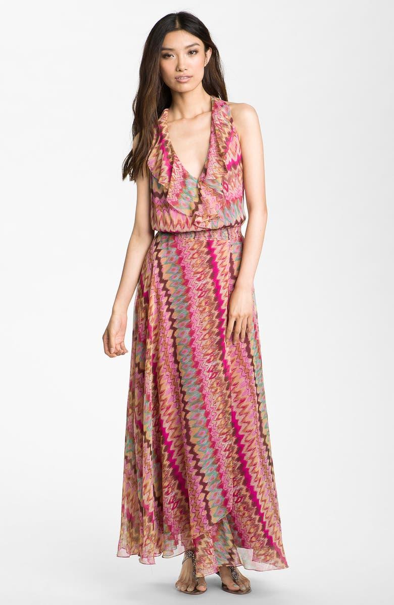 deb7d2aff91d9 Haute Hippie Silk Chiffon Maxi Dress | Nordstrom