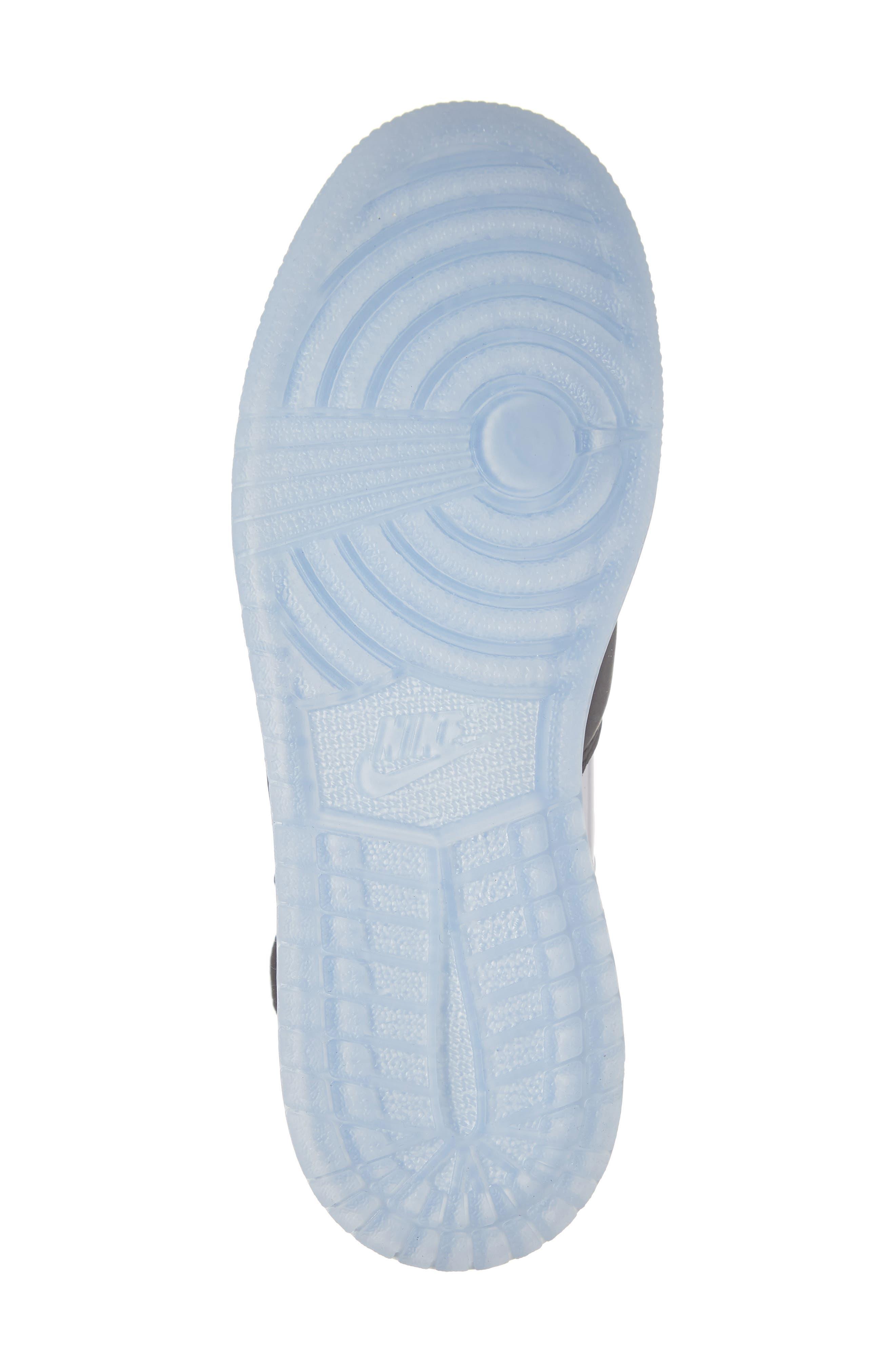 NIKE, Air Jordan 1 Rebel XX High Top Sneaker, Alternate thumbnail 6, color, BLACK/ BLACK