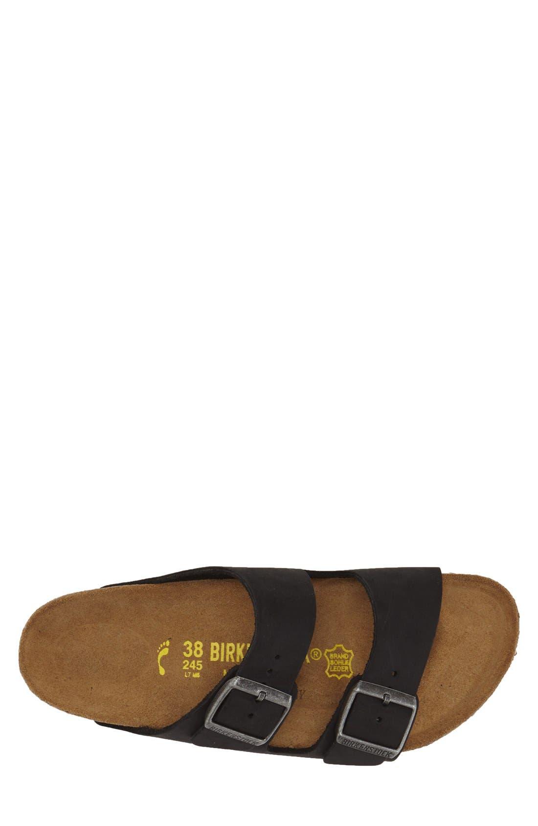 BIRKENSTOCK, 'Arizona' Leather Slide Sandal, Alternate thumbnail 2, color, 001