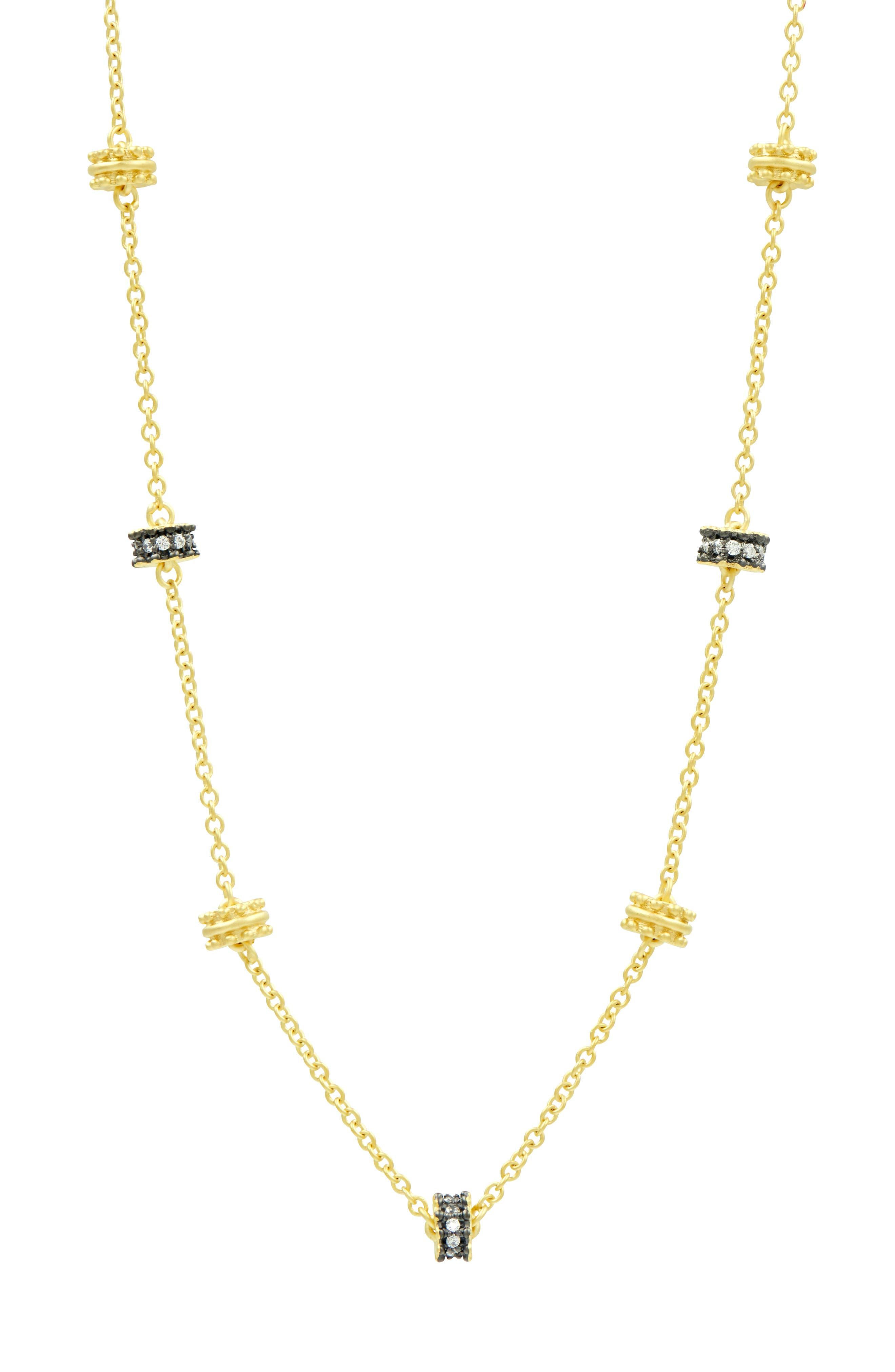 FREIDA ROTHMAN Imperial Short Station Necklace, Main, color, 710