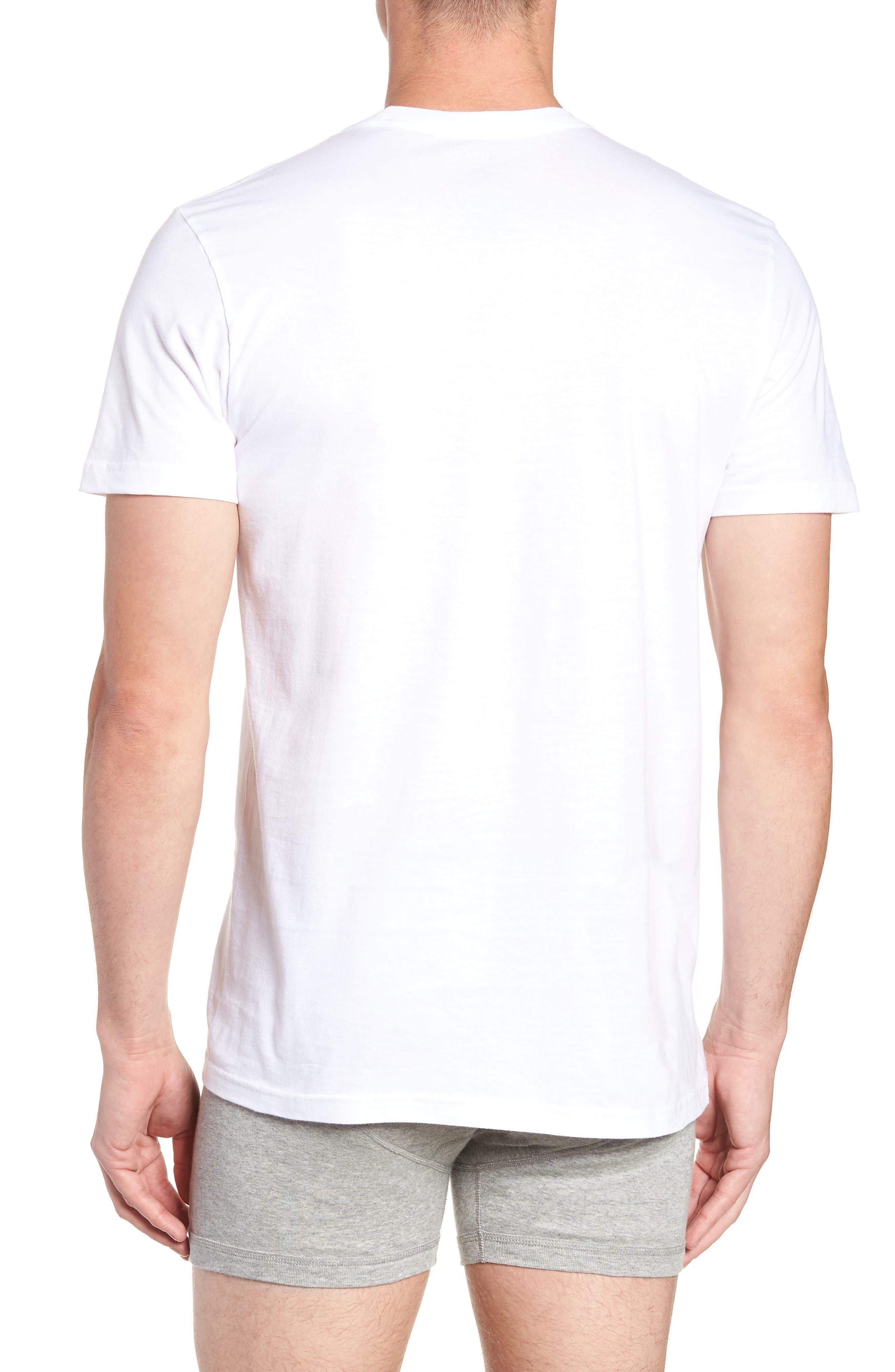 POLO RALPH LAUREN, 2-Pack Crewneck T-Shirts, Alternate thumbnail 3, color, WHITE