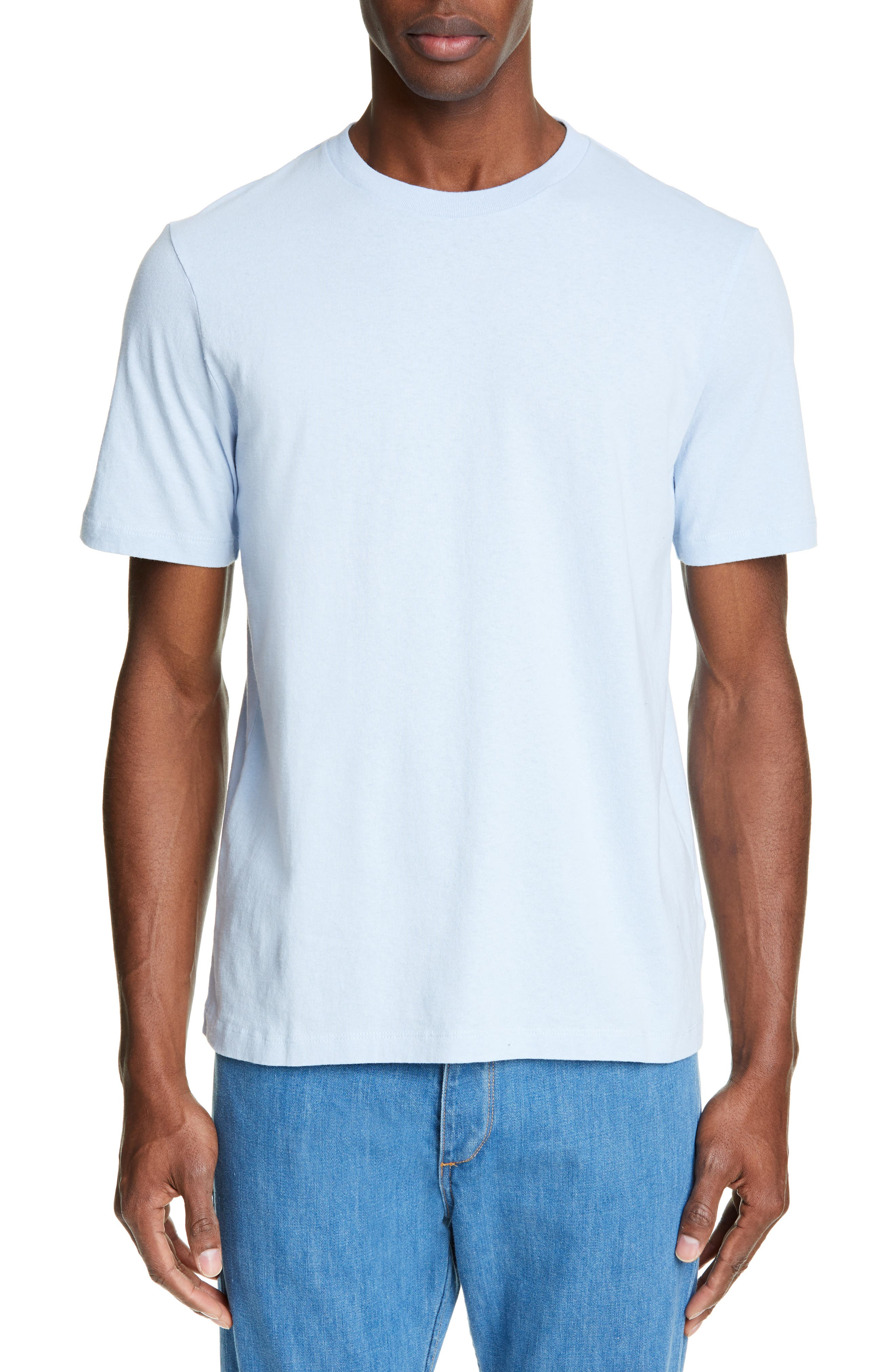 HELMUT LANG, Aviator T-Shirt, Main thumbnail 1, color, SKY