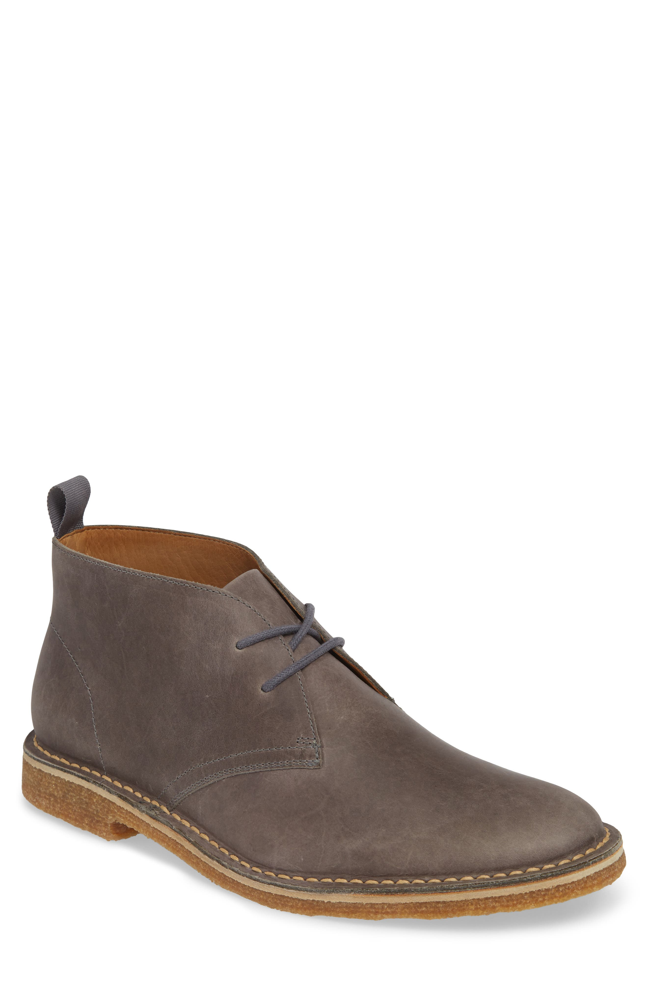 1901 Hudson Chukka Boot, Main, color, GREY LEATHER