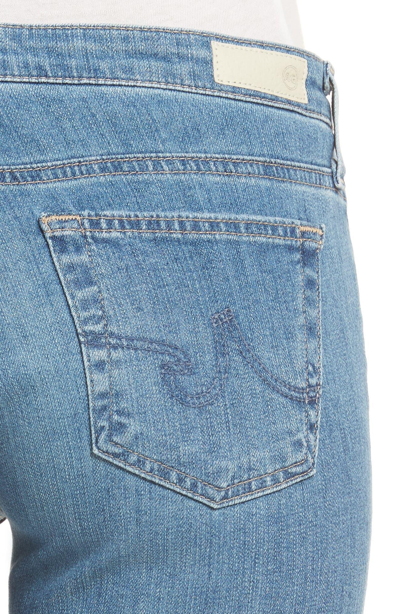 AG, 'Stilt' Distressed Roll Cuff Cigarette Jeans, Alternate thumbnail 4, color, 403