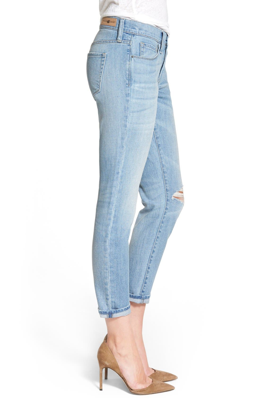TREASURE & BOND, Treasure&Bond Ankle Boyfriend Skinny Jeans, Alternate thumbnail 4, color, 400