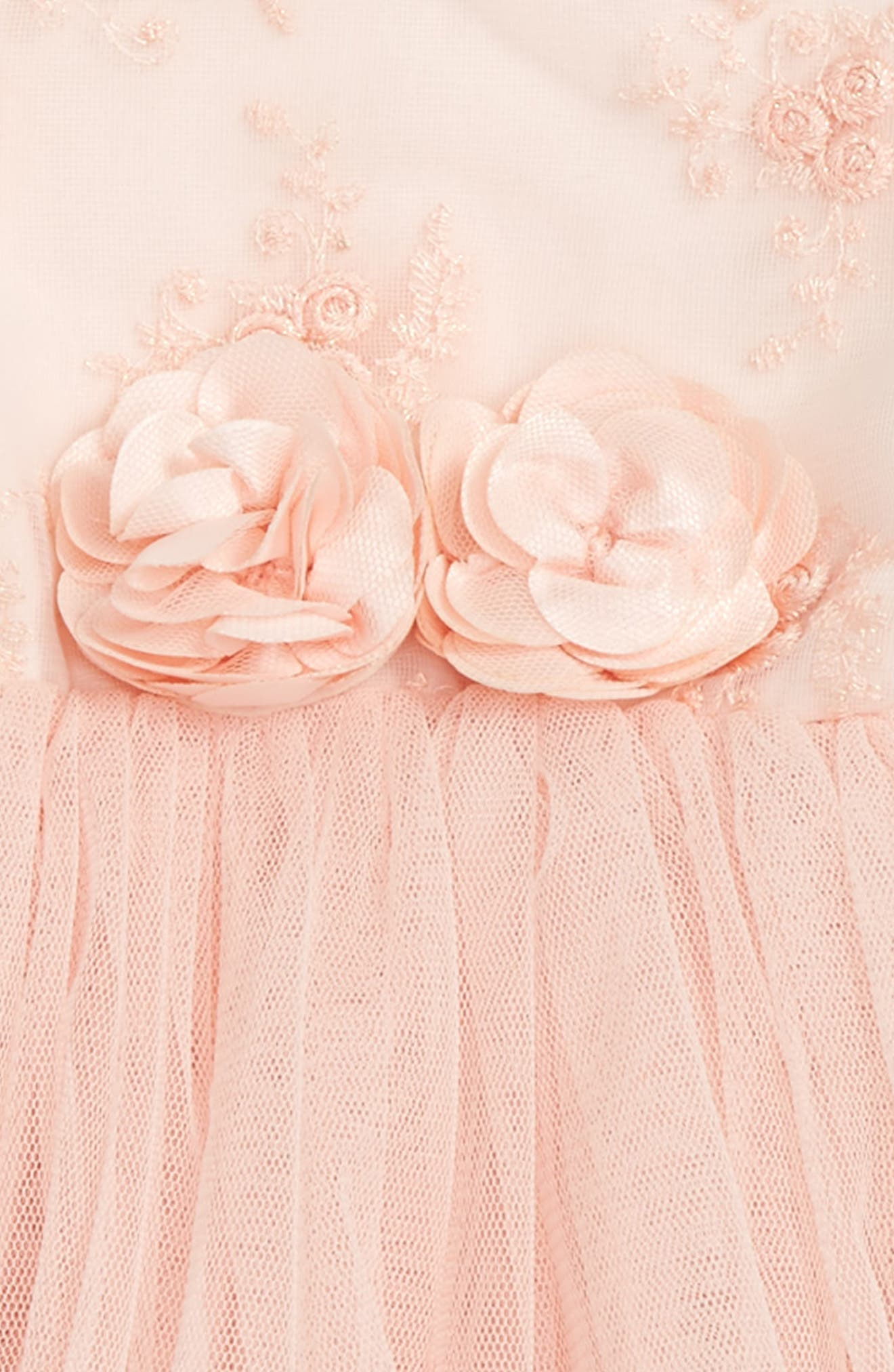 POPATU, Tulle Dress, Alternate thumbnail 2, color, PEACH