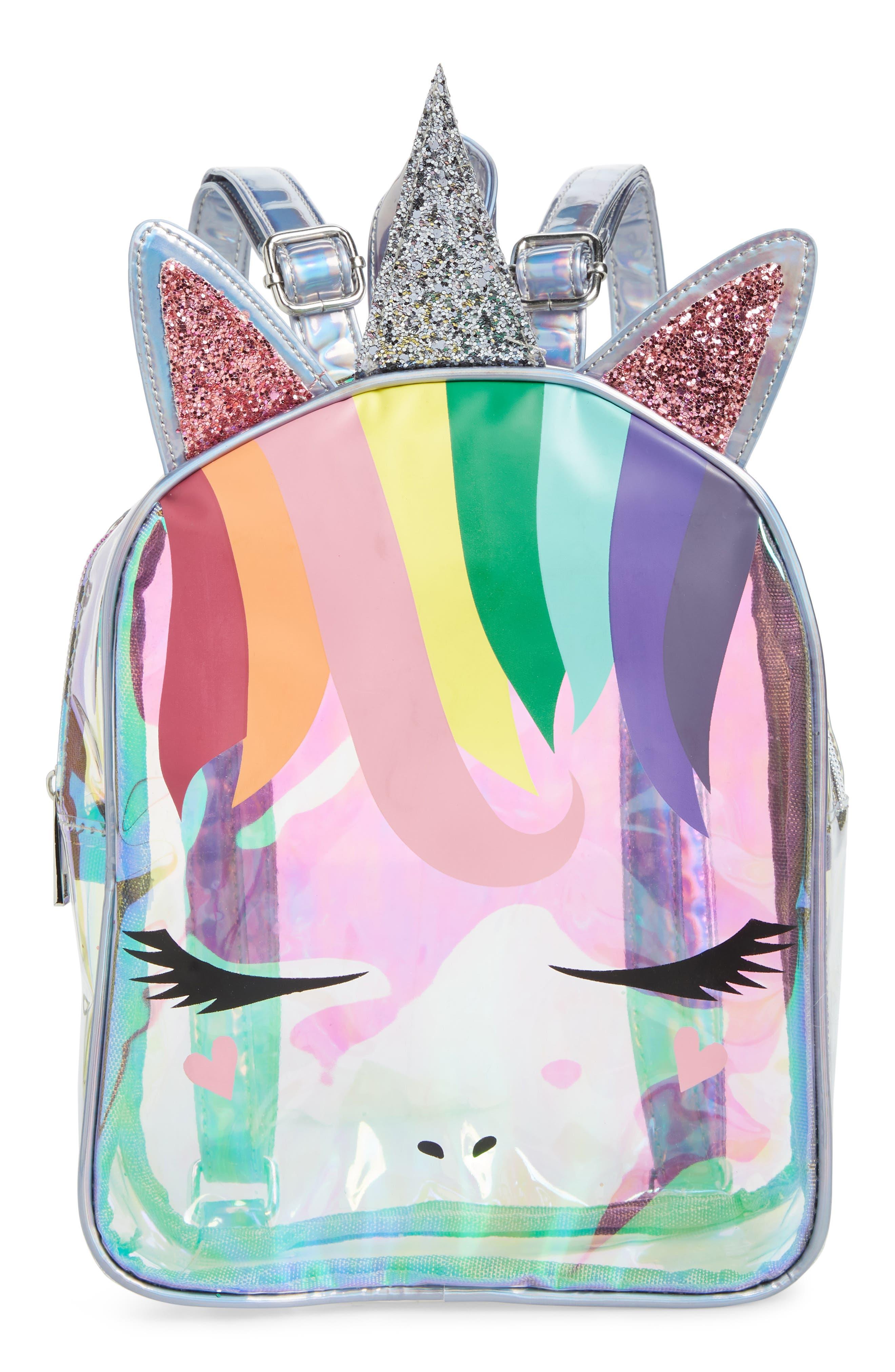 Girls Omg Rainbow Unicorn Mini Backpack  None