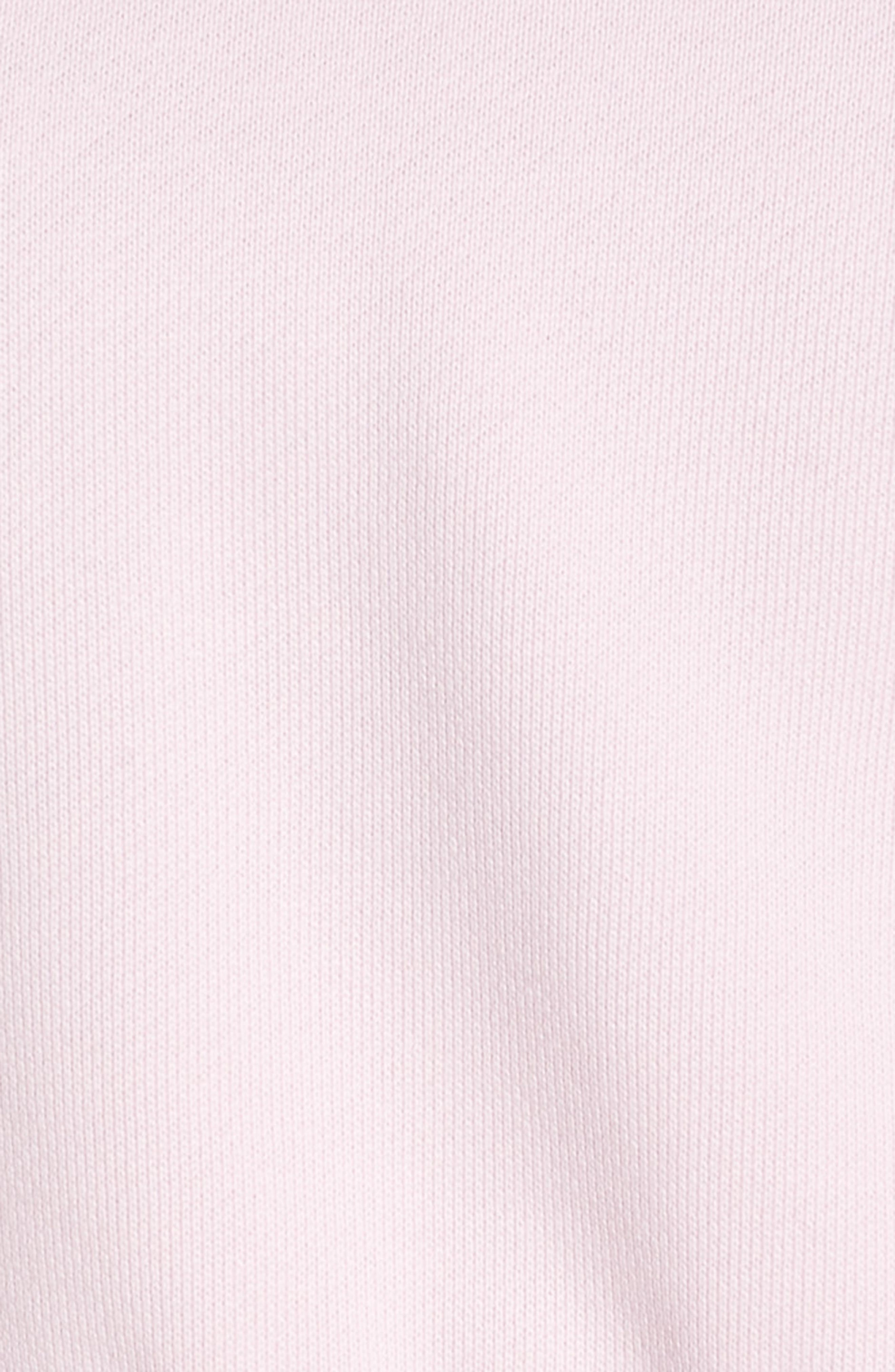 NIKE, Sportswear Women's Cropped Hoodie, Alternate thumbnail 6, color, PINK FOAM/ BLACK