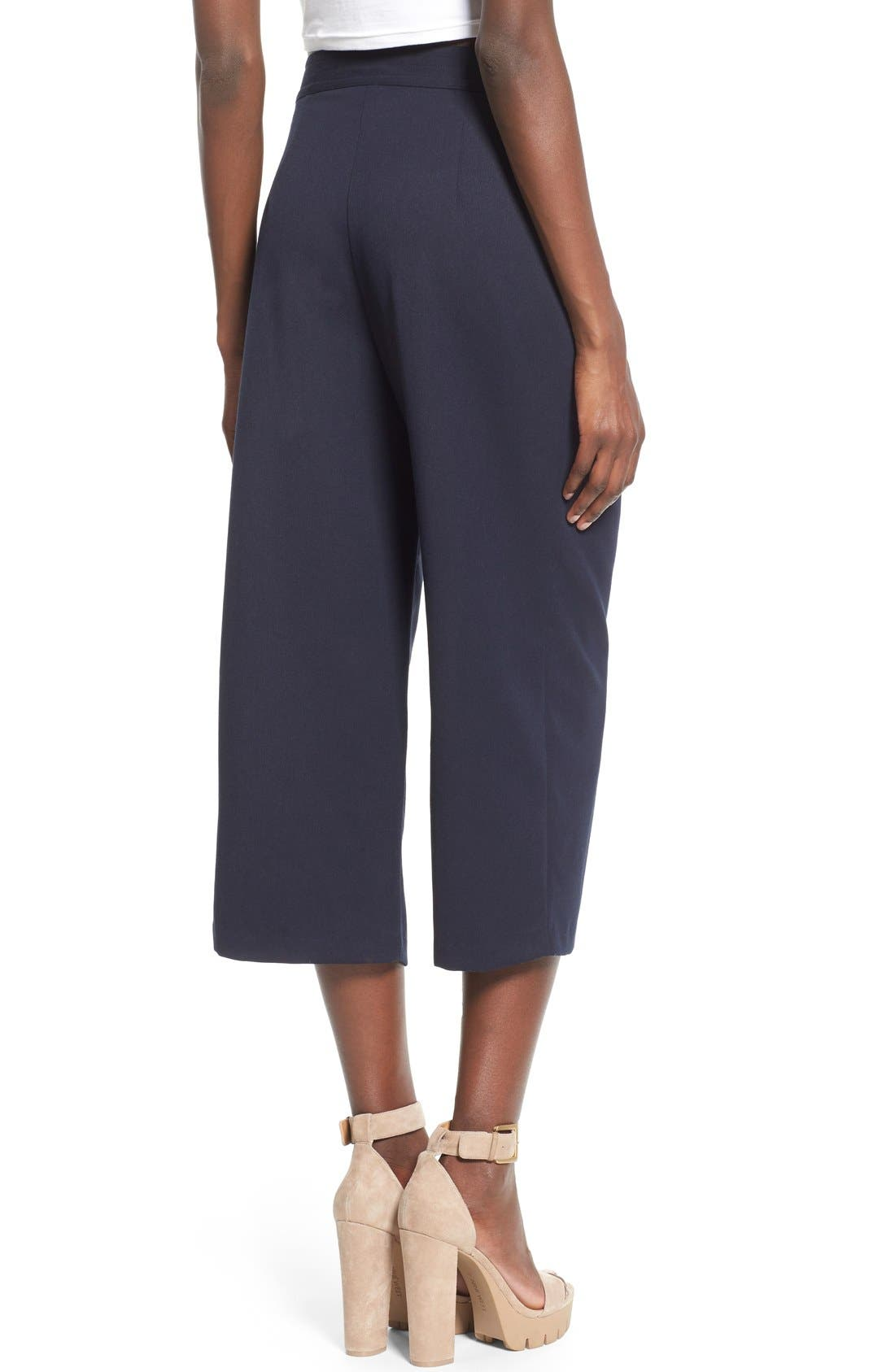 WAYF, Pleated Culottes, Alternate thumbnail 4, color, 410