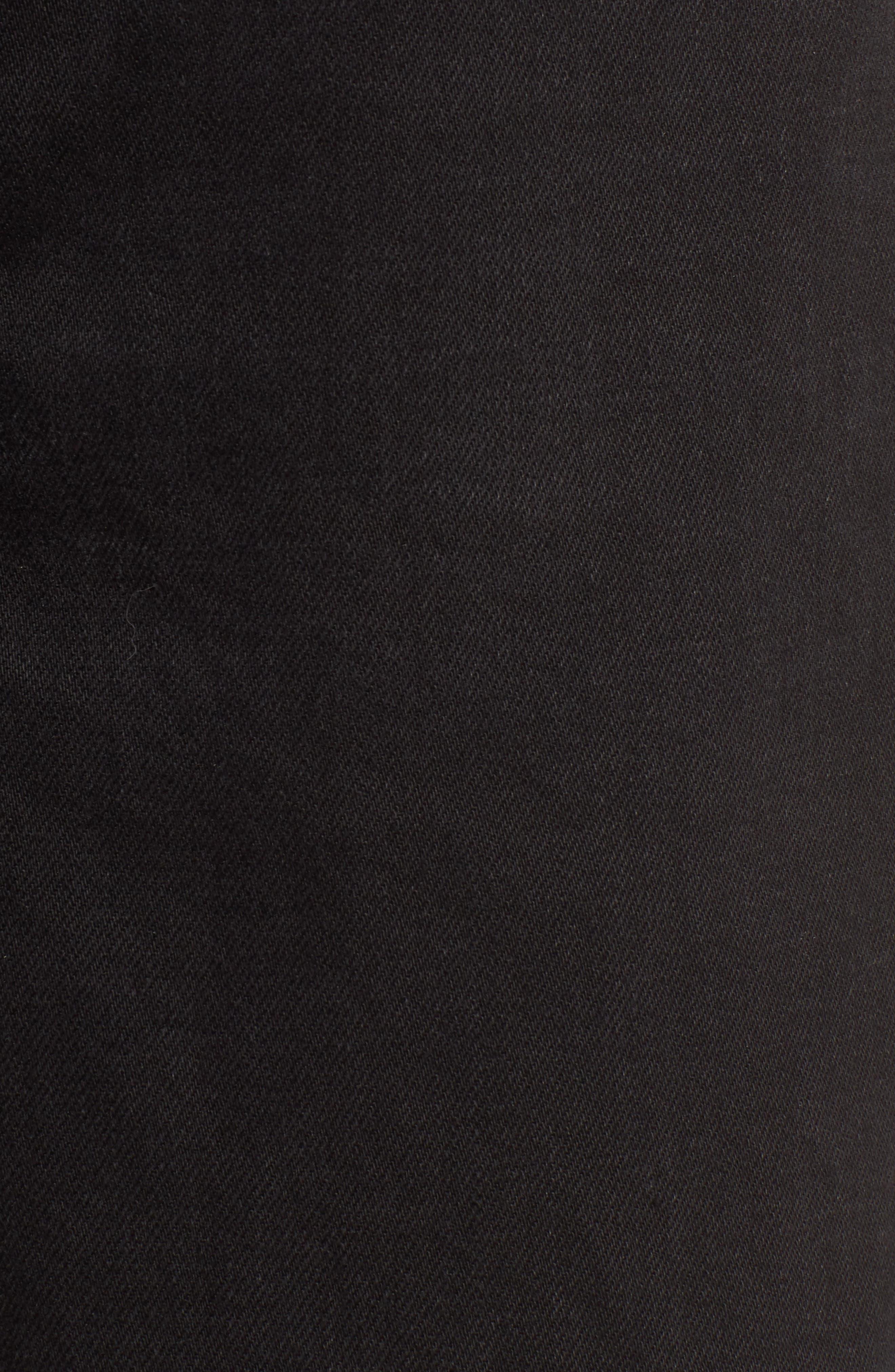 TOPSHOP, Wide Leg Crop Jeans, Alternate thumbnail 6, color, WASHED BLACK