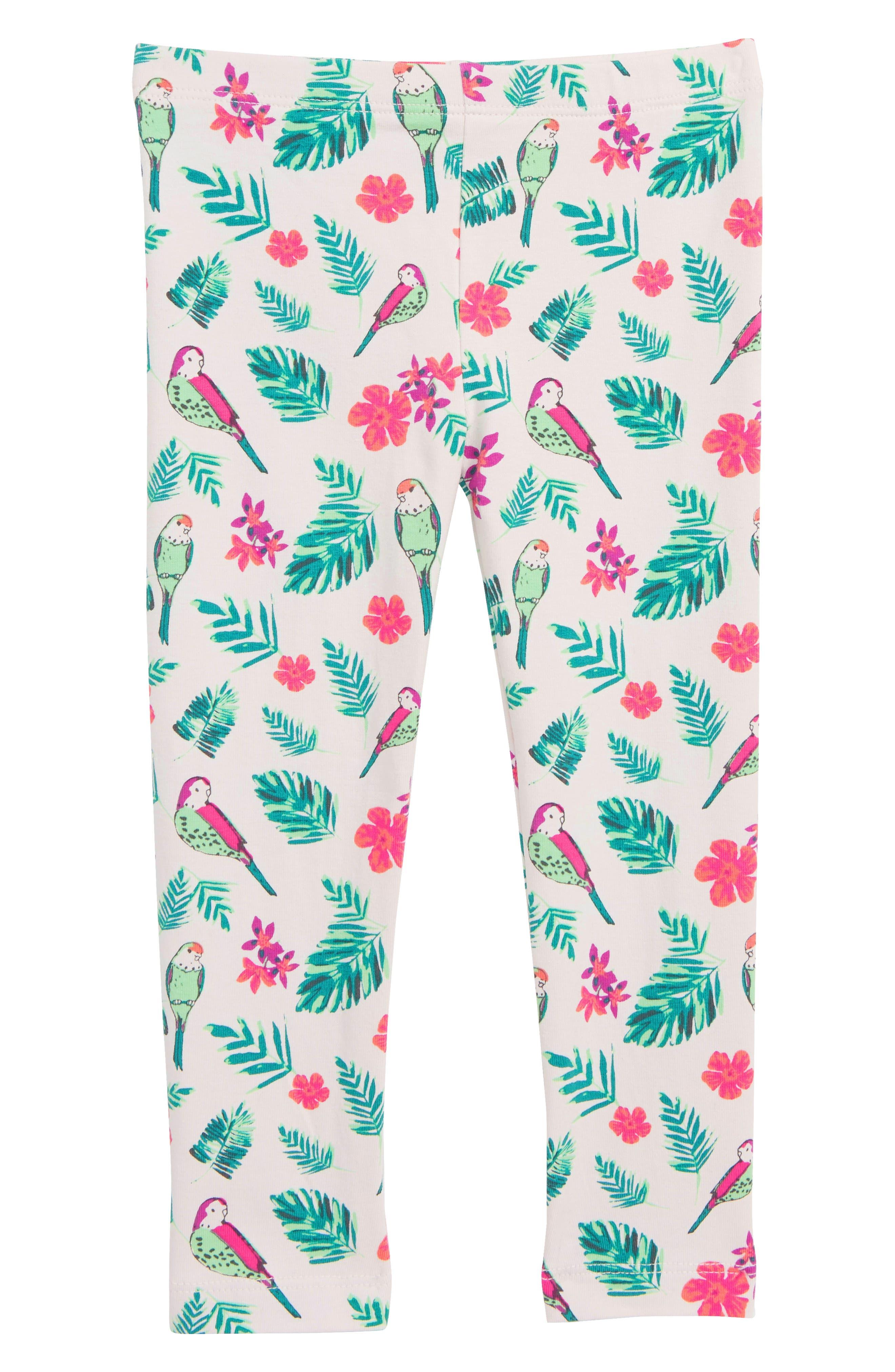 Toddler Girls Peek ArenT You Curious Lara Tropical Bird Leggings Size 3T  Pink