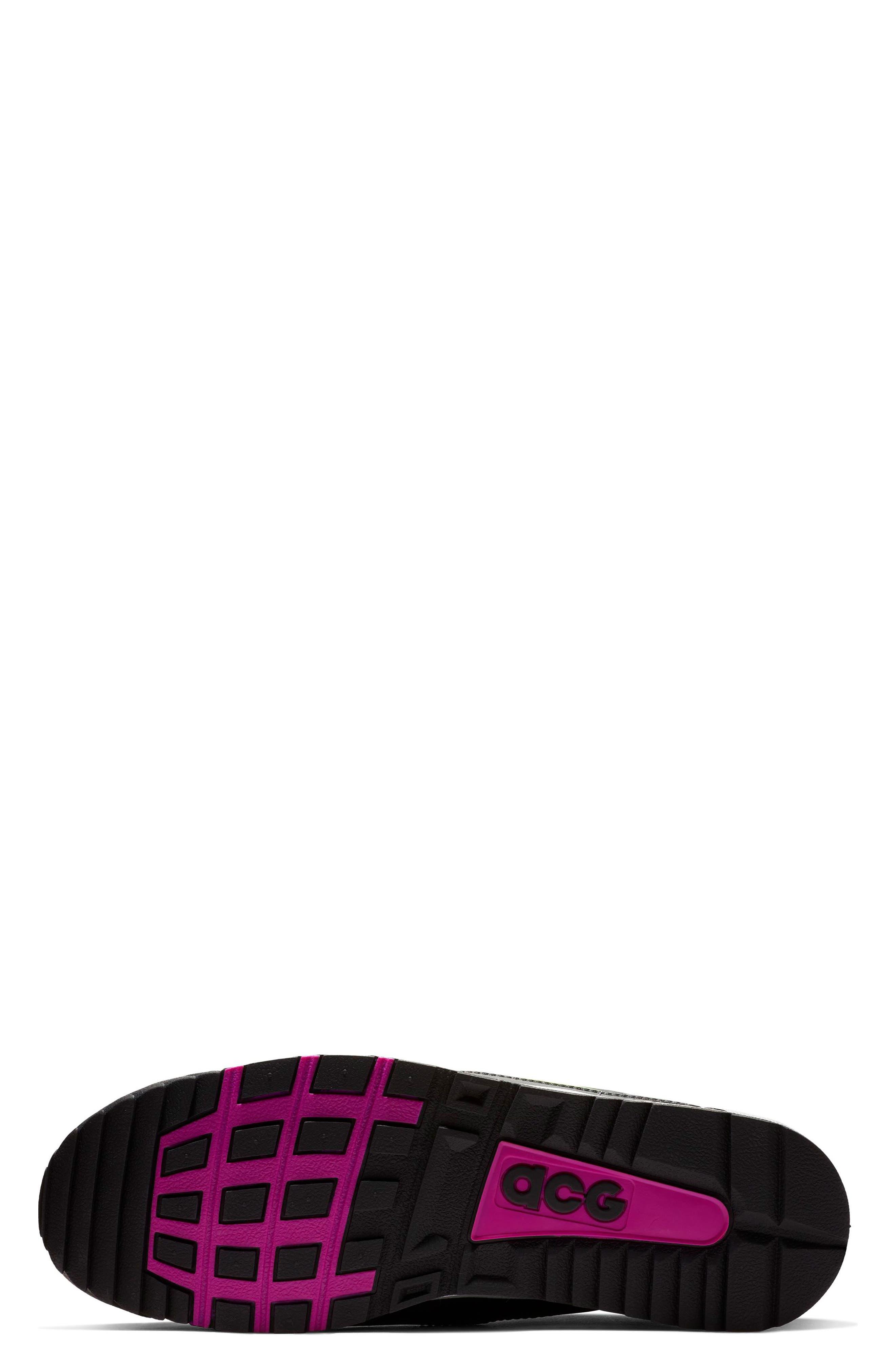 NIKE, Air Wildwood ACG Sneaker, Alternate thumbnail 5, color, BLACK/ ELECTRIC GREEN/ VIOLET