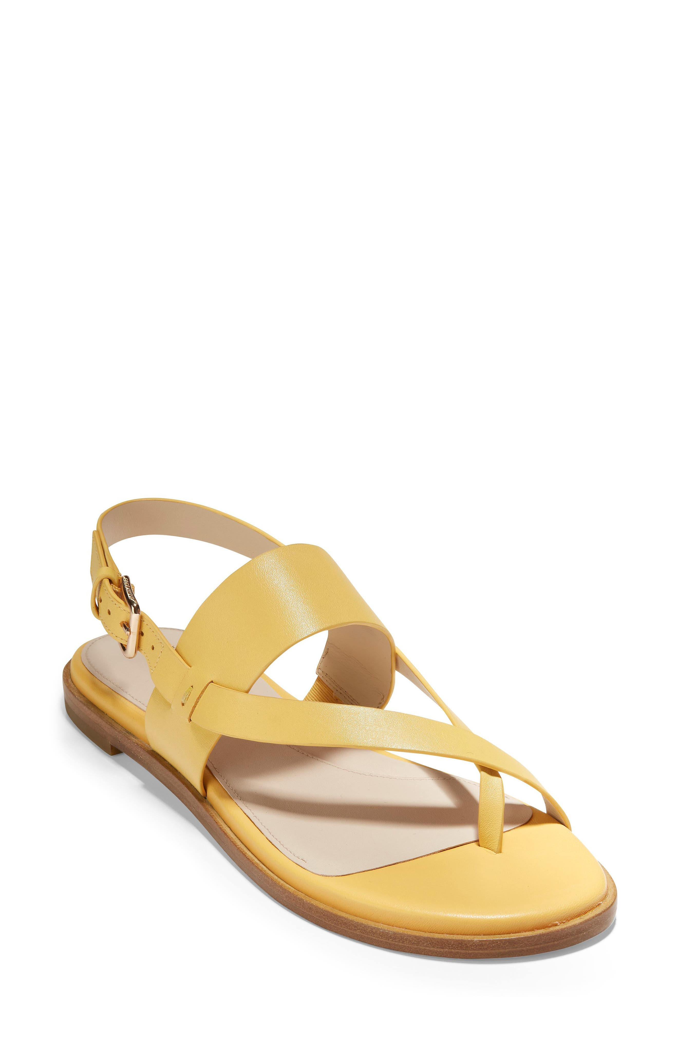 COLE HAAN Anica Sandal, Main, color, SUNSET GOLD LEATHER
