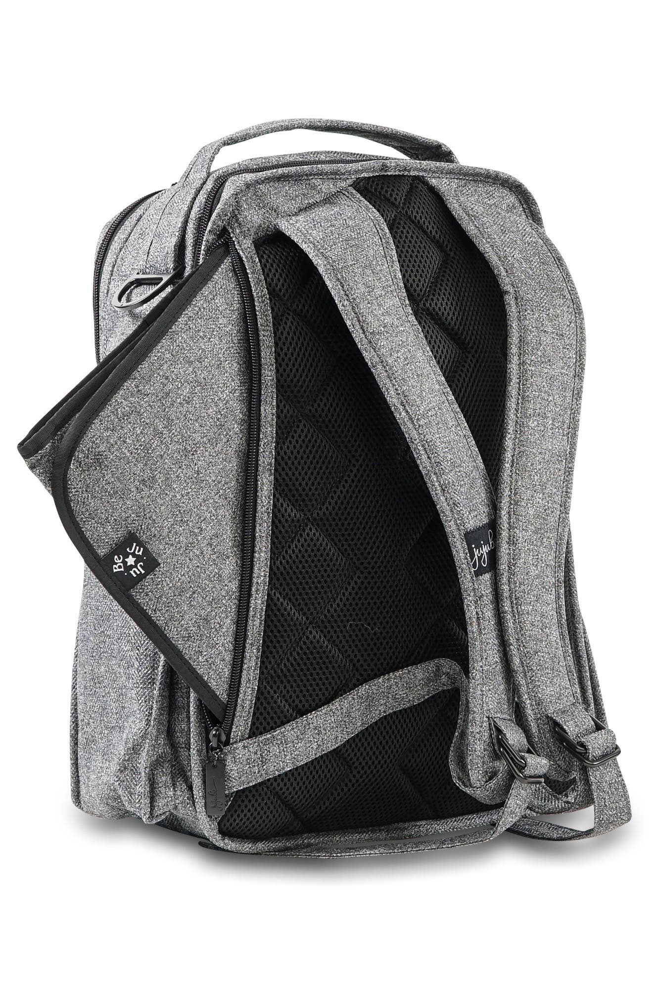 JU-JU-BE, 'Be Right Back - Onyx Collection' Diaper Backpack, Alternate thumbnail 8, color, GRAY MATTER