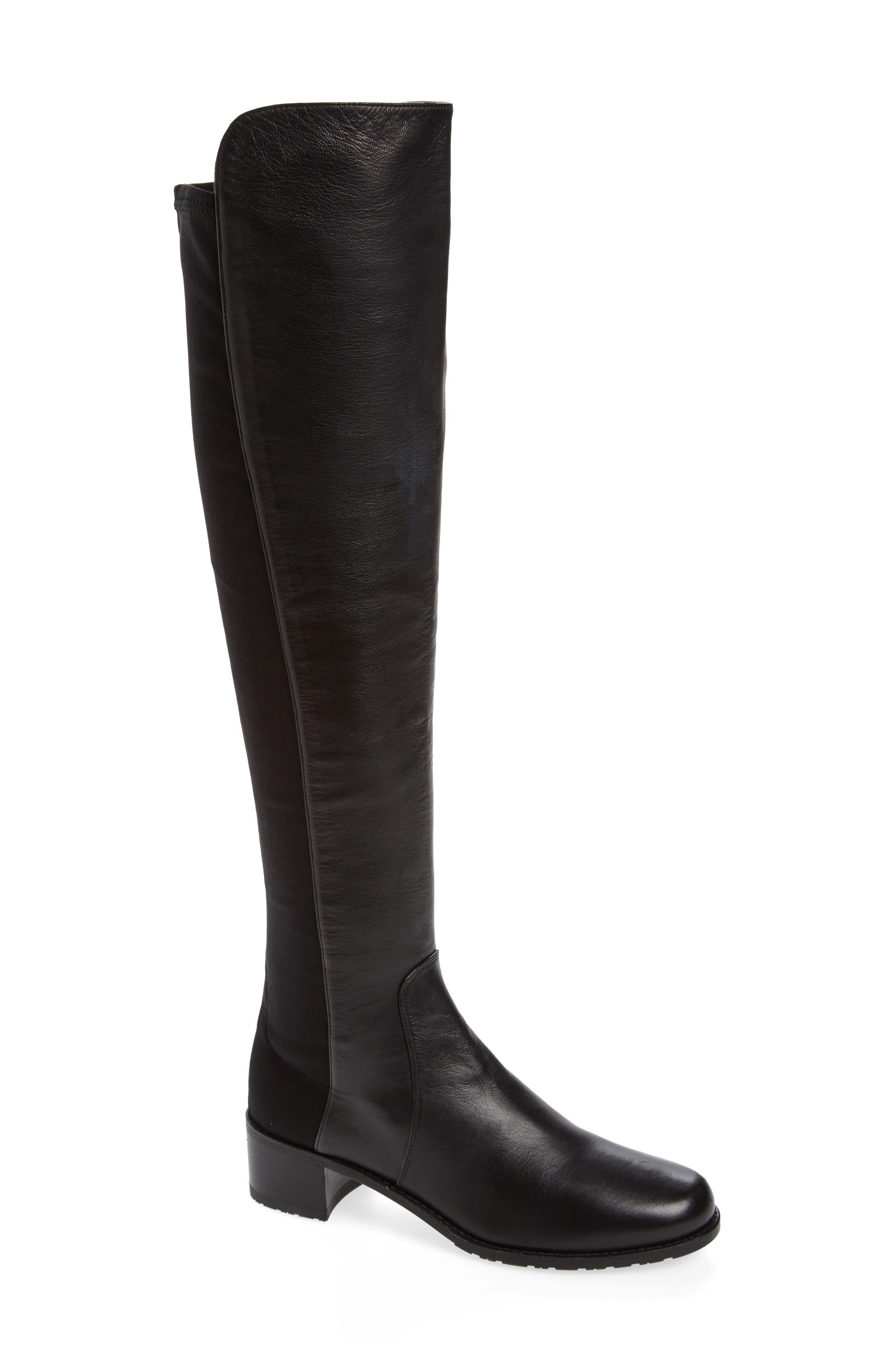 STUART WEITZMAN 'Reserve' Over the Knee Boot, Main, color, BLACK NAPPA