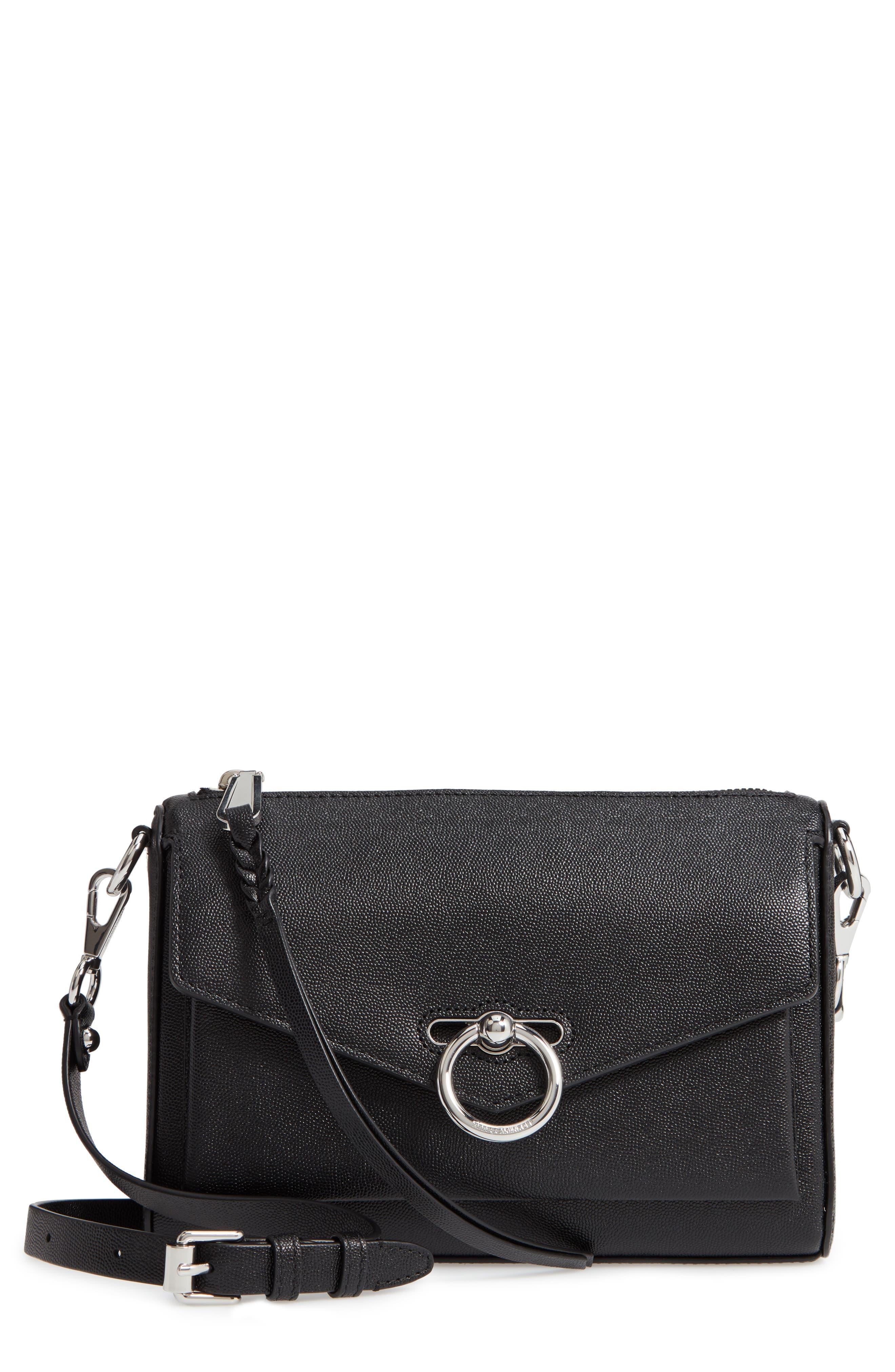 REBECCA MINKOFF, Jean MAC Convertible Crossbody Bag, Main thumbnail 1, color, BLACK