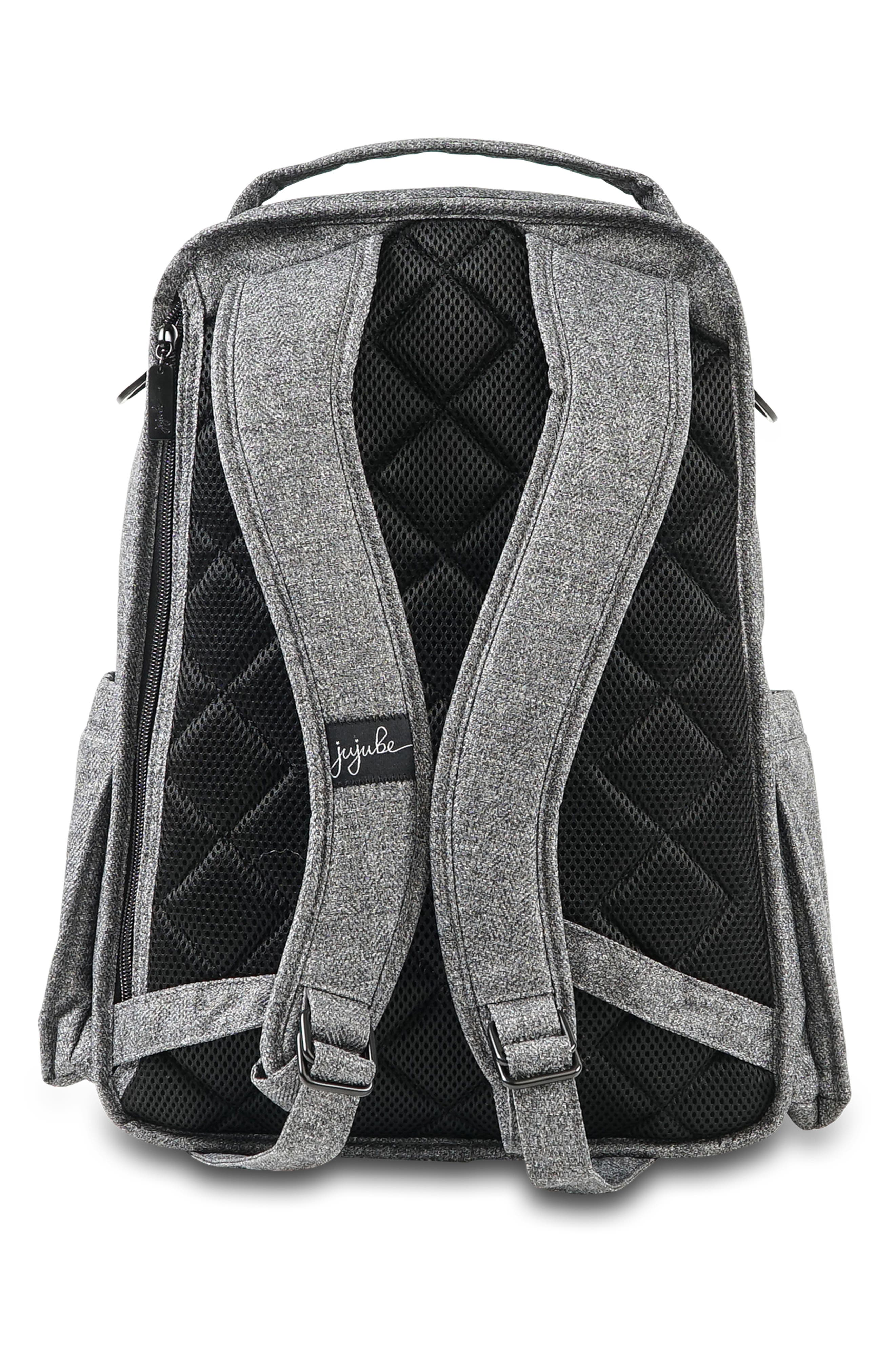 JU-JU-BE, 'Be Right Back - Onyx Collection' Diaper Backpack, Alternate thumbnail 2, color, GRAY MATTER