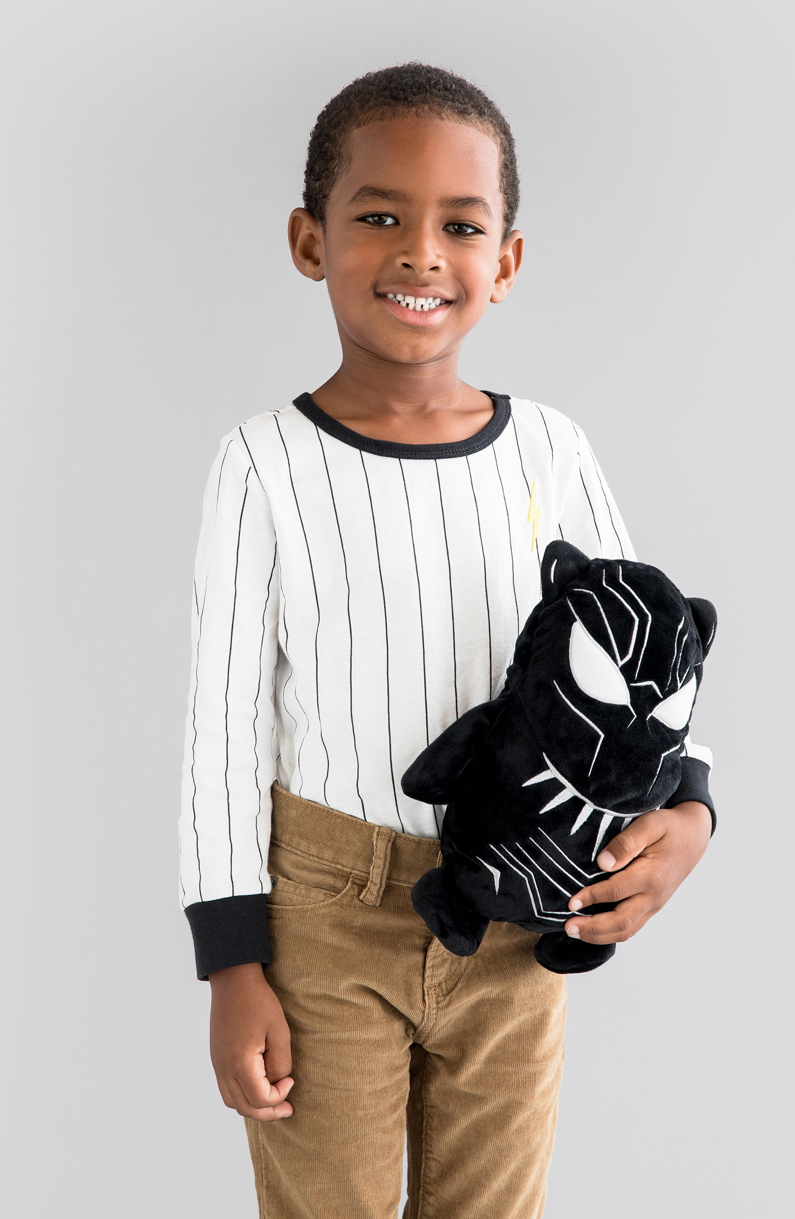 CUBCOATS, Marvel<sup>®</sup> 2018 Black Panther<sup>®</sup> 2-in-1 Stuffed Animal Hoodie, Alternate thumbnail 11, color, BLACK