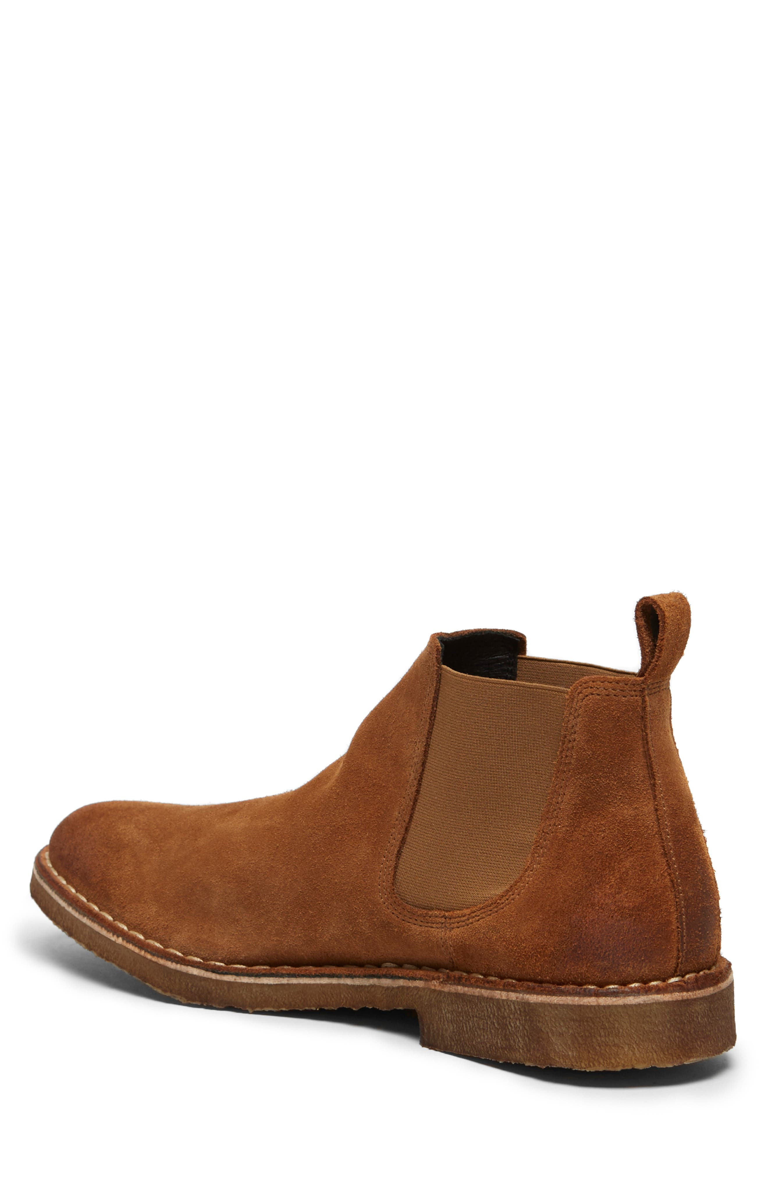 KENNETH COLE NEW YORK, Hewitt Chelsea Boot, Alternate thumbnail 2, color, RUST SUEDE