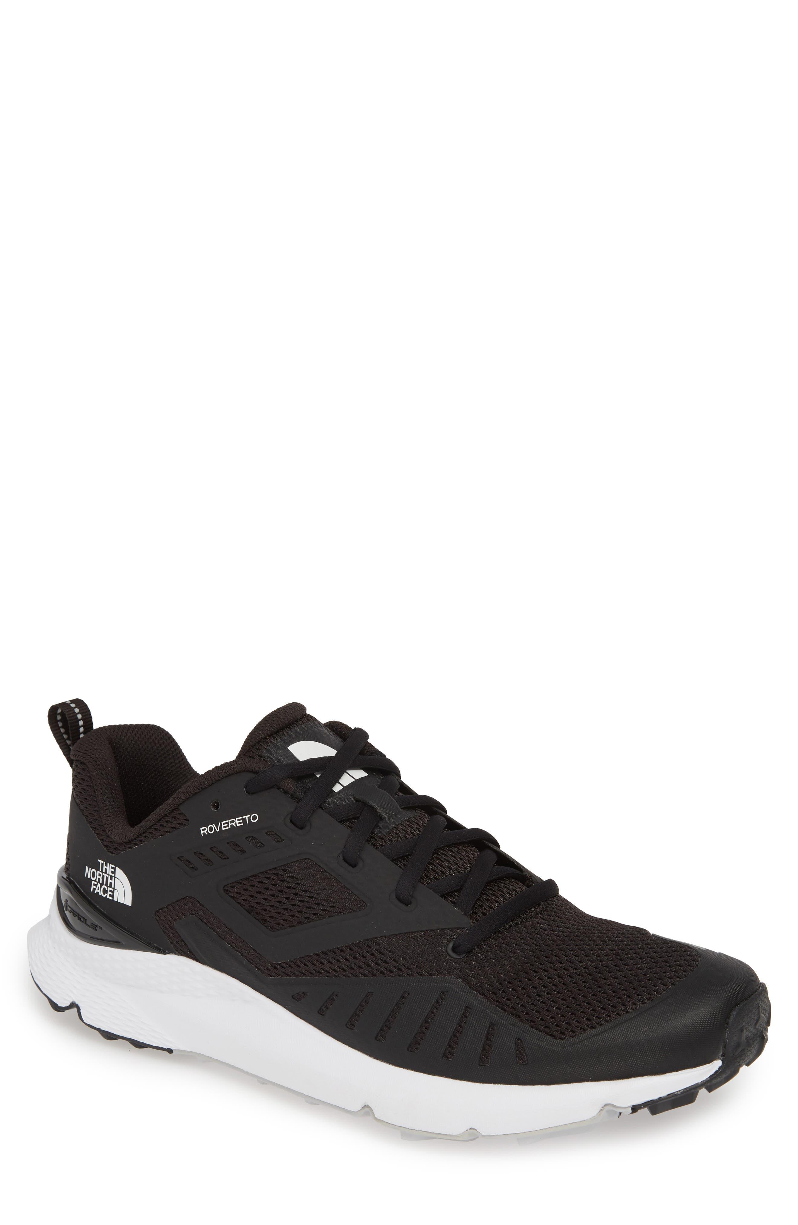 THE NORTH FACE, Rovereto Running Shoe, Main thumbnail 1, color, BLACK/ WHITE