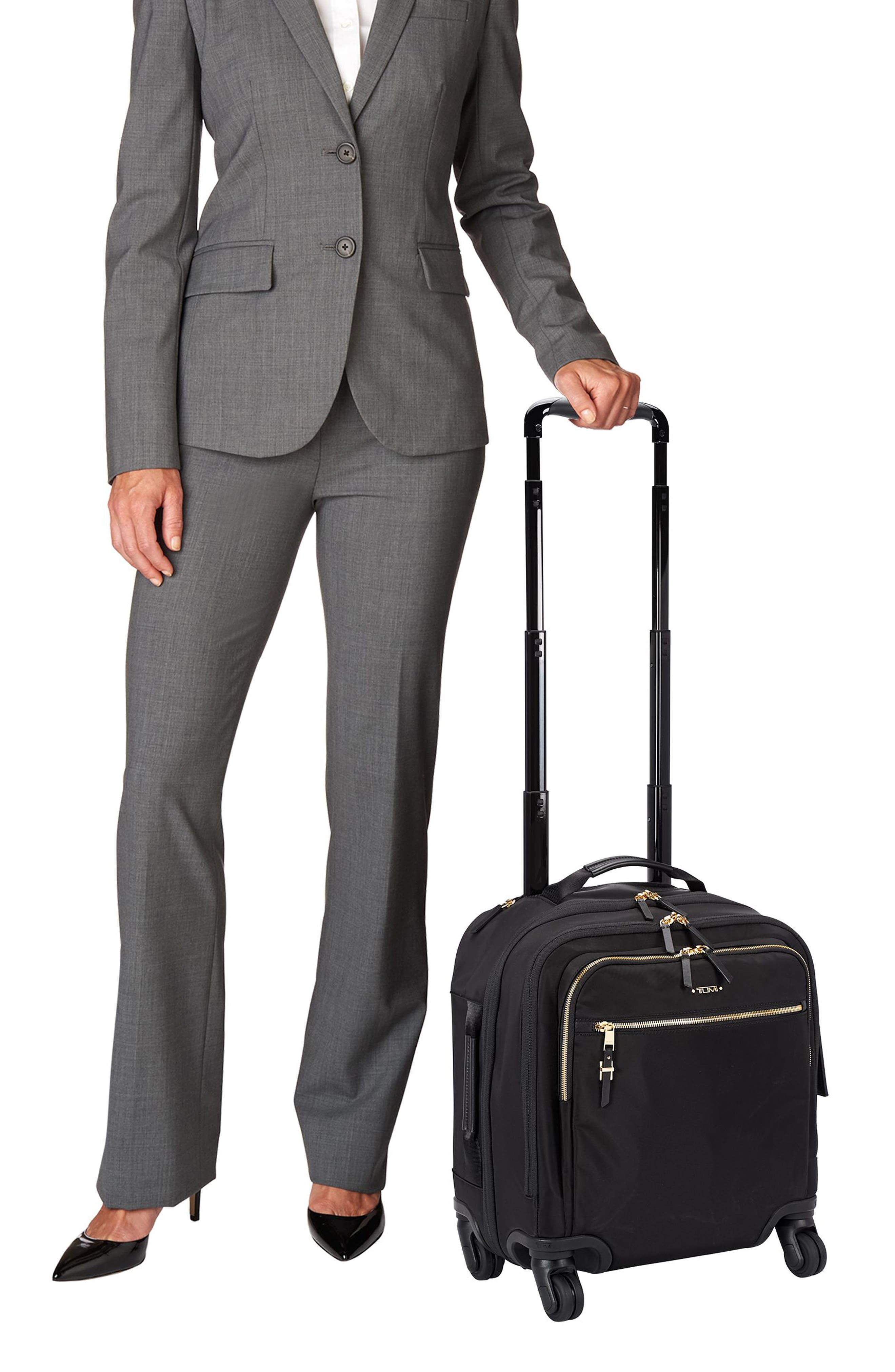 TUMI, Voyageur Osona 16-Inch Compact Carry-On, Alternate thumbnail 2, color, BLACK