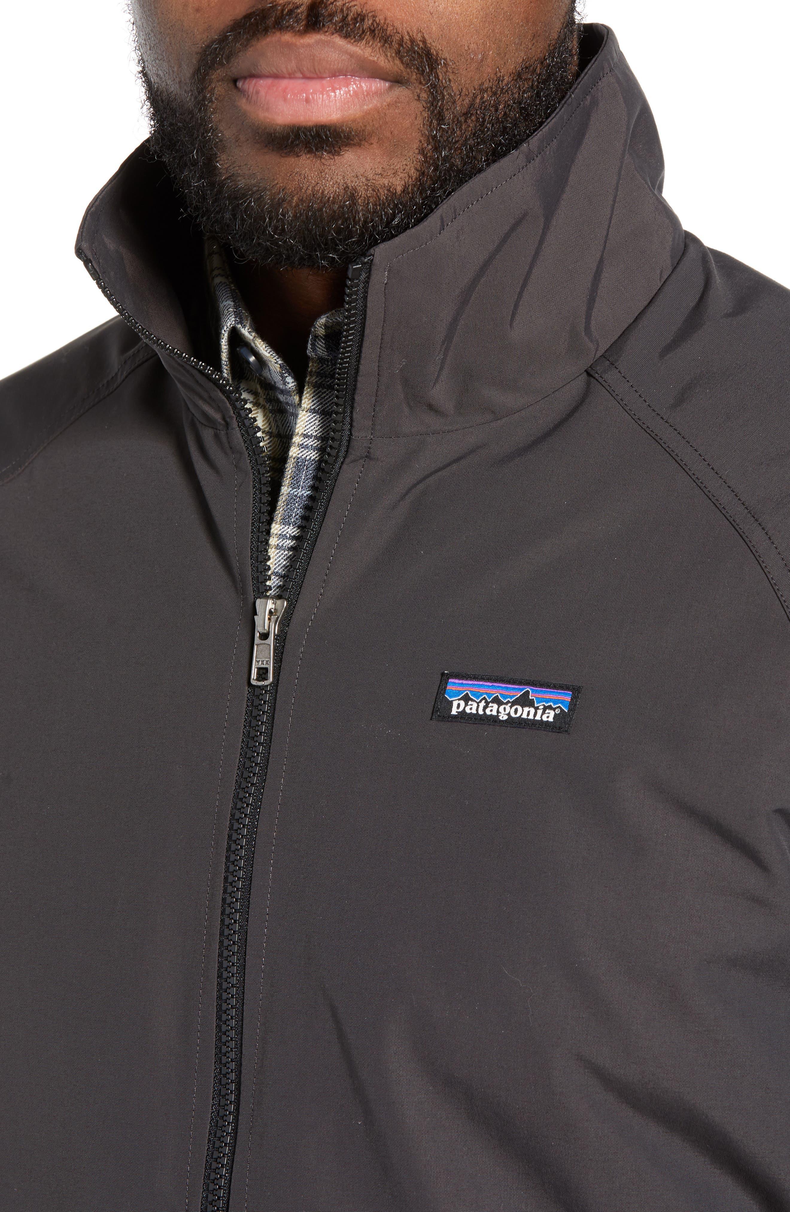 PATAGONIA, Baggies Wind & Water Resistant Jacket, Alternate thumbnail 5, color, INK BLACK