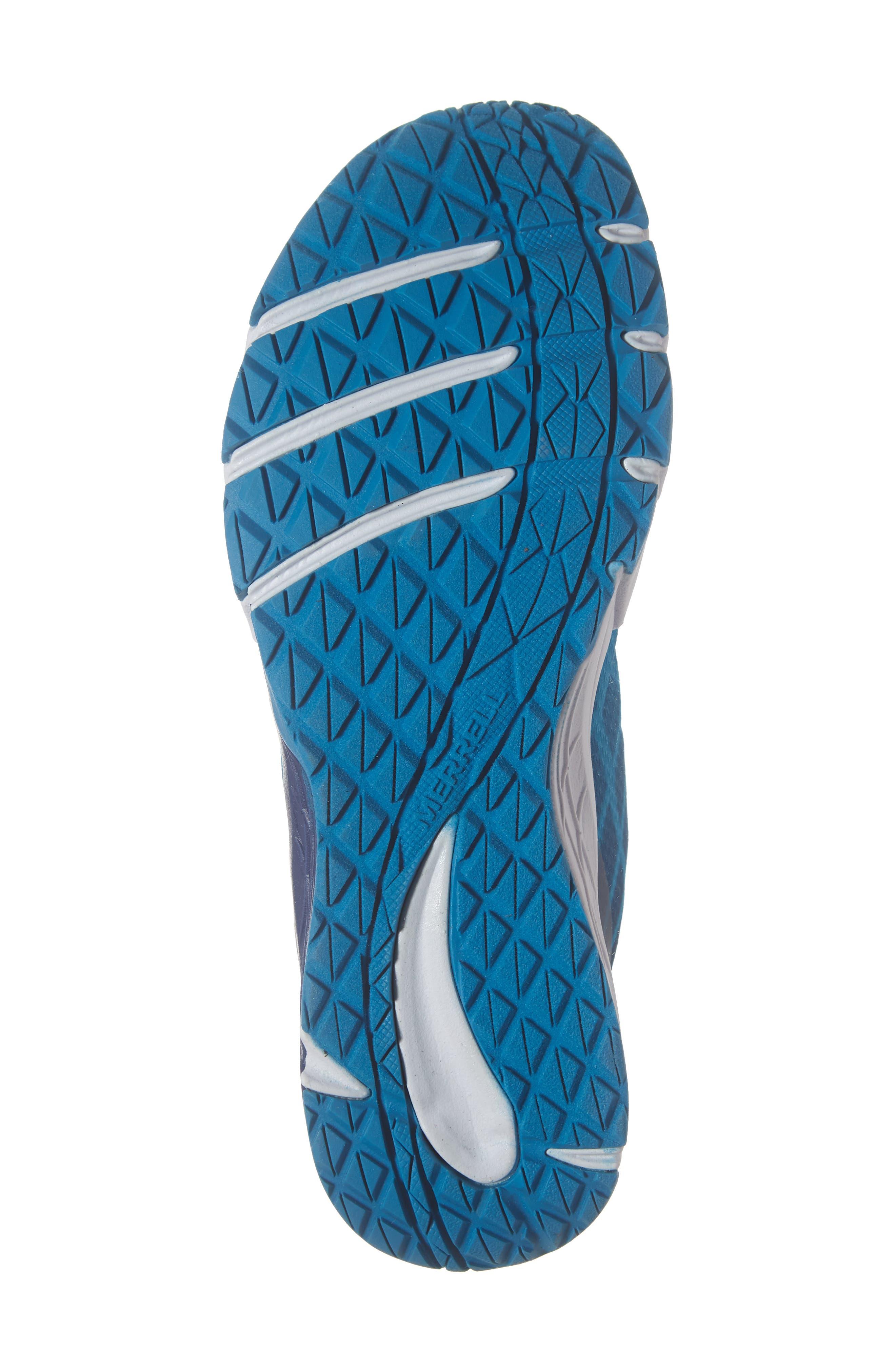 MERRELL, Bare Access Sneaker, Alternate thumbnail 6, color, BLUE SYNTHETIC