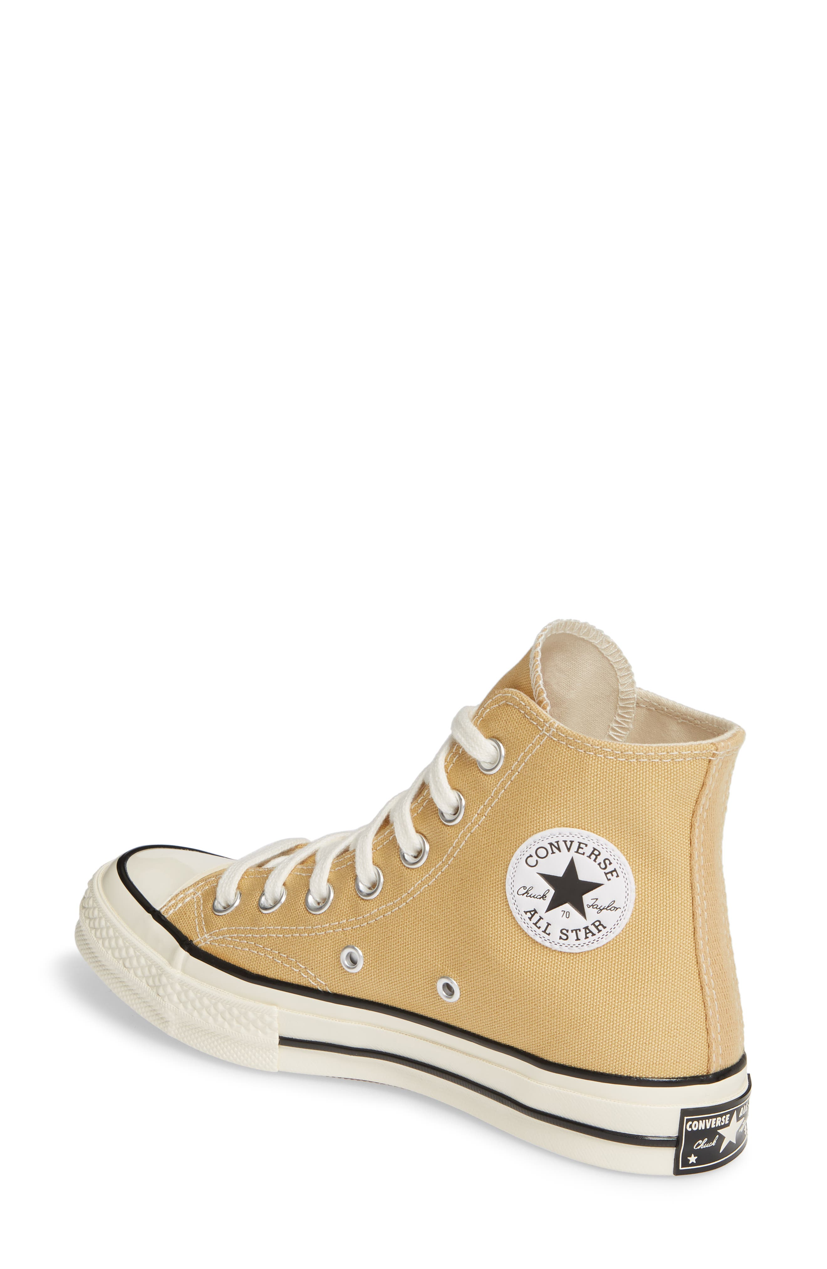 CONVERSE, Chuck Taylor<sup>®</sup> All Star<sup>®</sup> 70 High Top Sneaker, Alternate thumbnail 2, color, CLUB GOLD/ EGRET/ BLACK