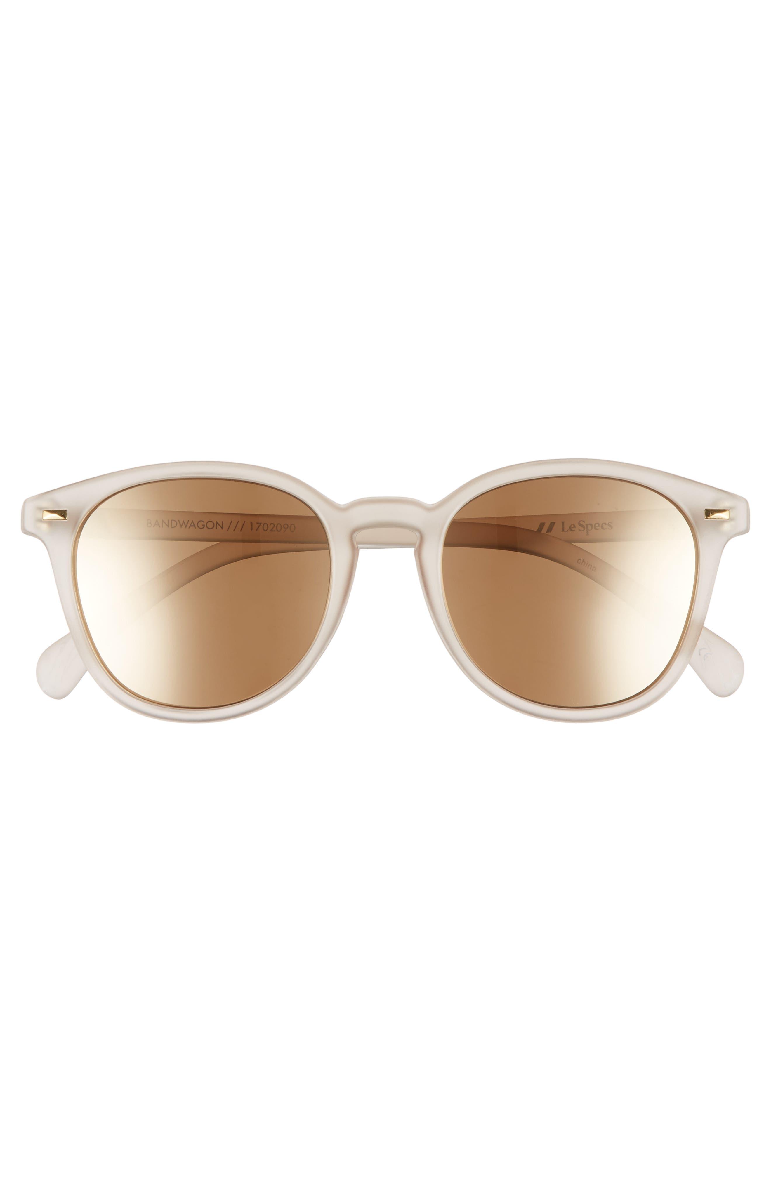 LE SPECS, Bandwagon 51mm Sunglasses, Alternate thumbnail 3, color, MATTE STONE