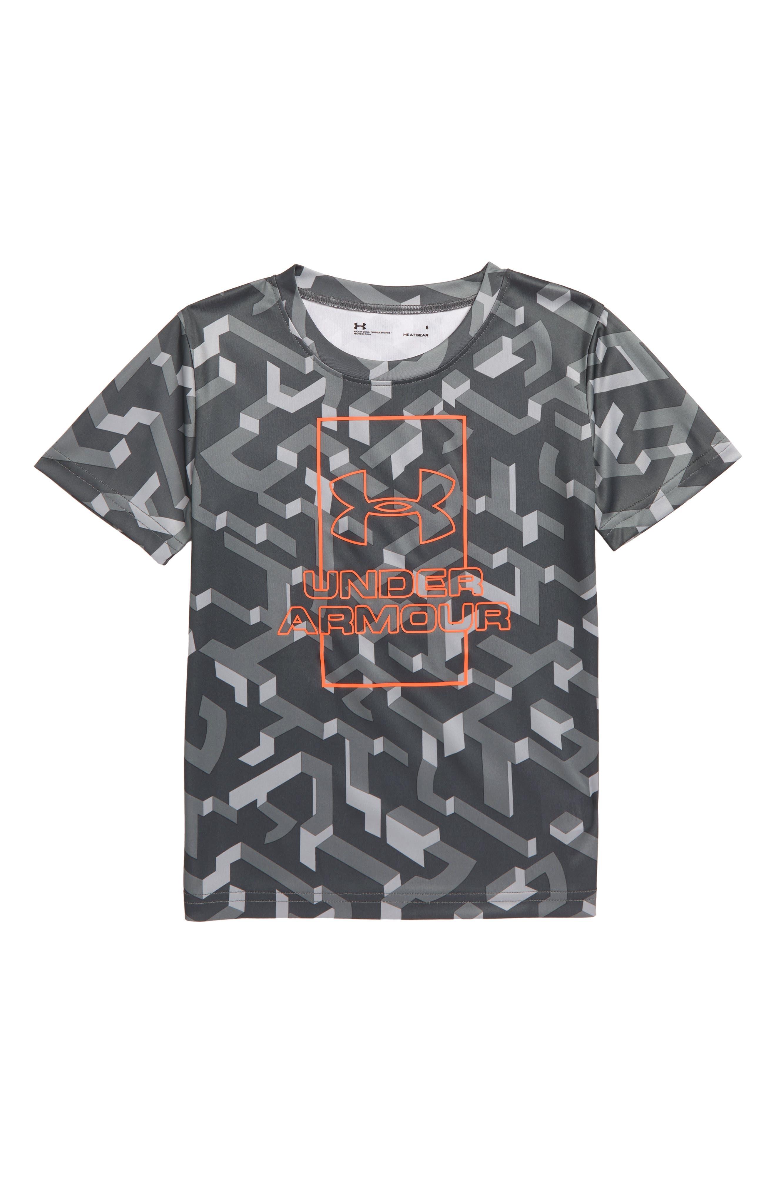 UNDER ARMOUR Knockout HeatGear<sup>®</sup> T-Shirt, Main, color, MOD GRAY