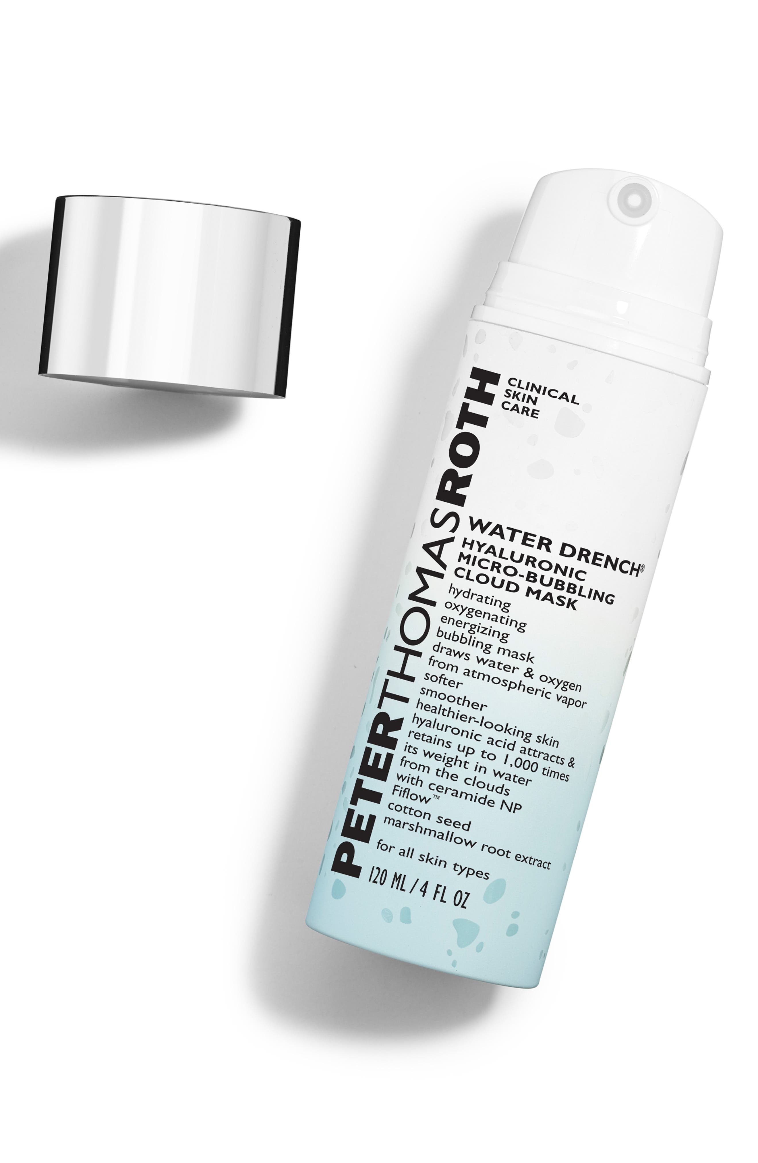PETER THOMAS ROTH, Water Drench Hyaluronic Micro-Bubbling Cloud Mask, Alternate thumbnail 2, color, NO COLOR